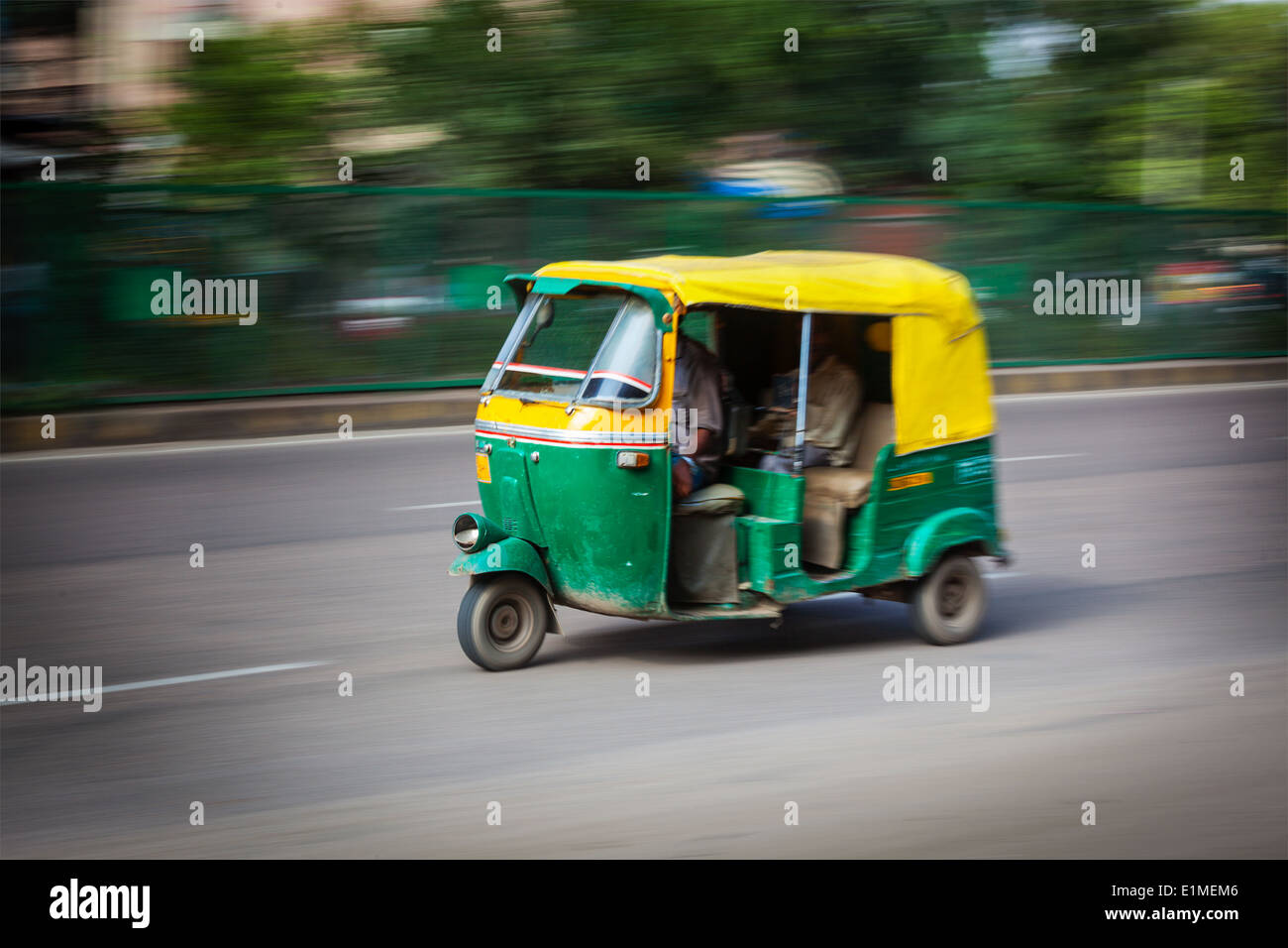 Indian auto (autorickshaw) in the street. India Stock Photo