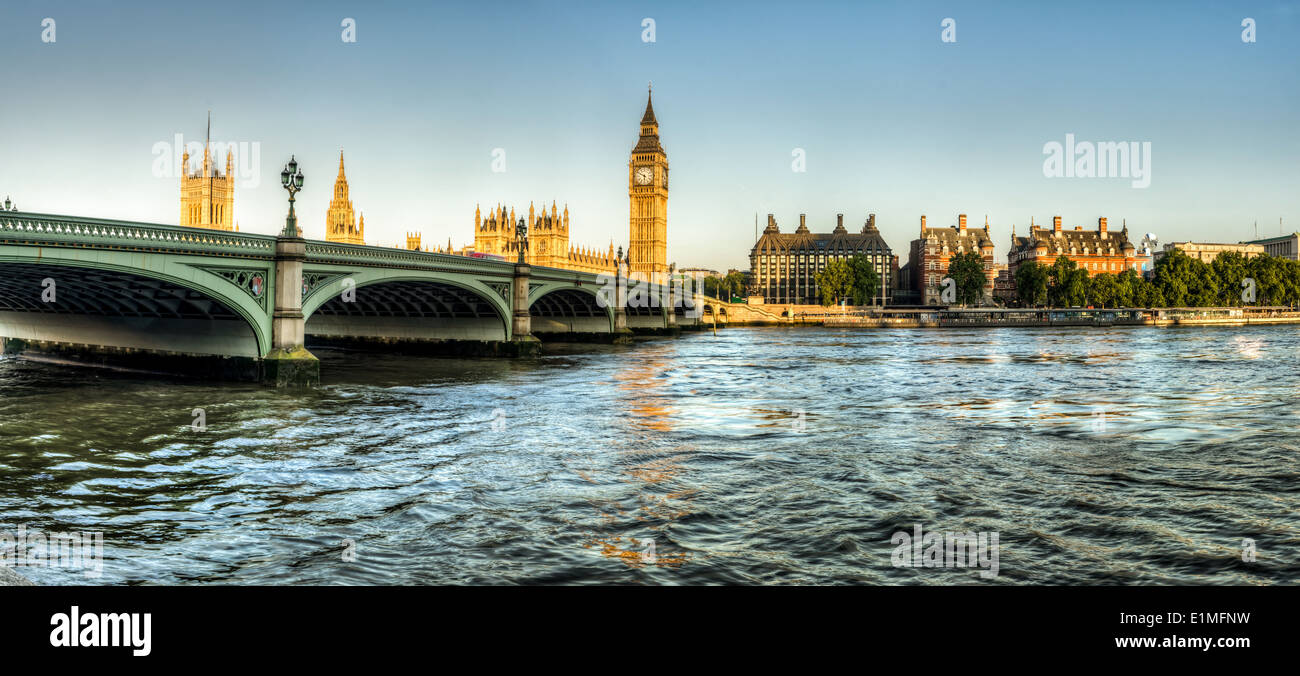 panorama shot of Big Ben - Stock Image