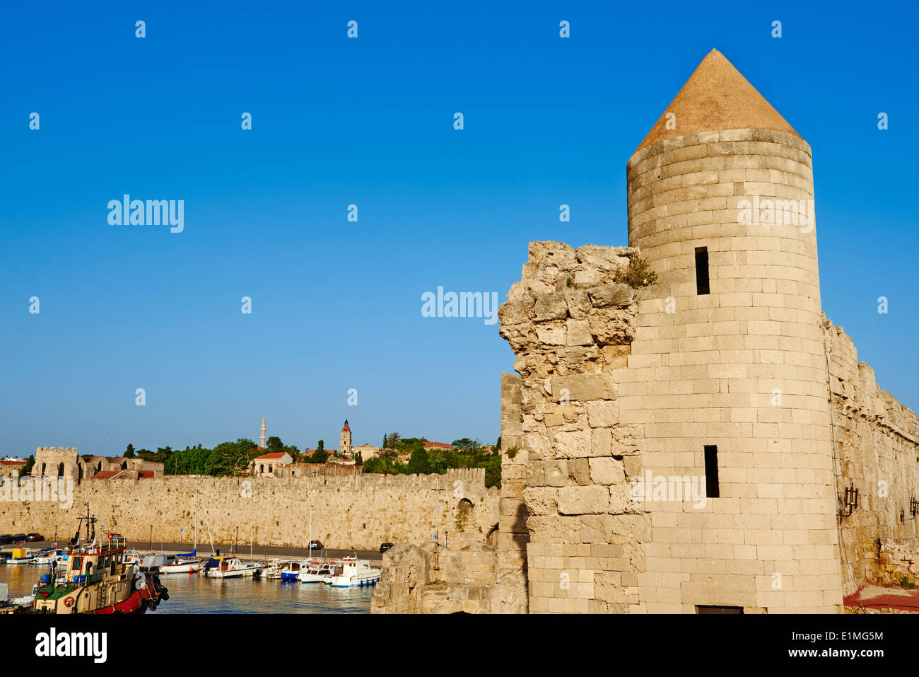 Greece, Dodecanese, Rhodes island, Rhodes city, Unesco word heritage, Fortress - Stock Image