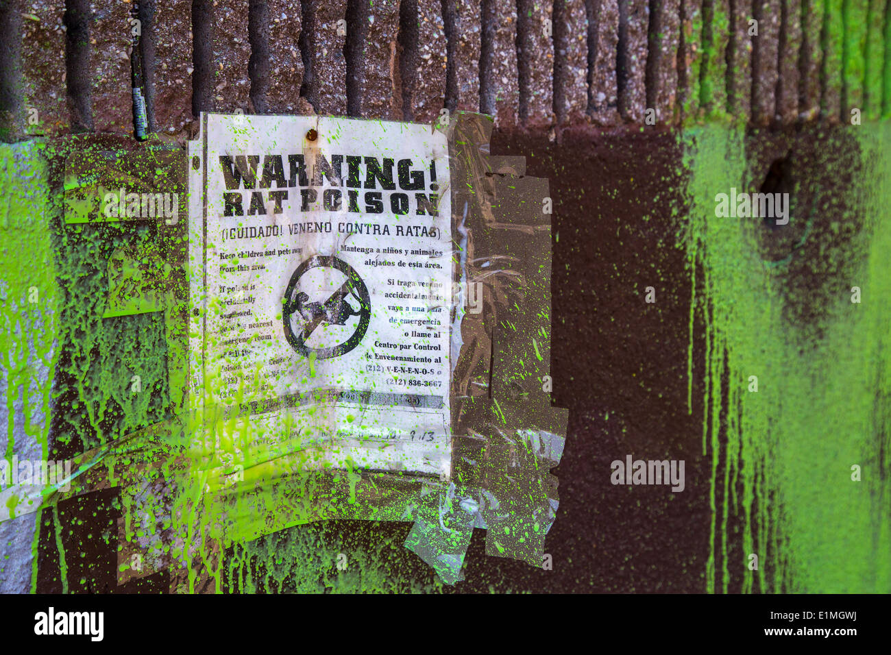 Rat Poison Warning Sign - Stock Image
