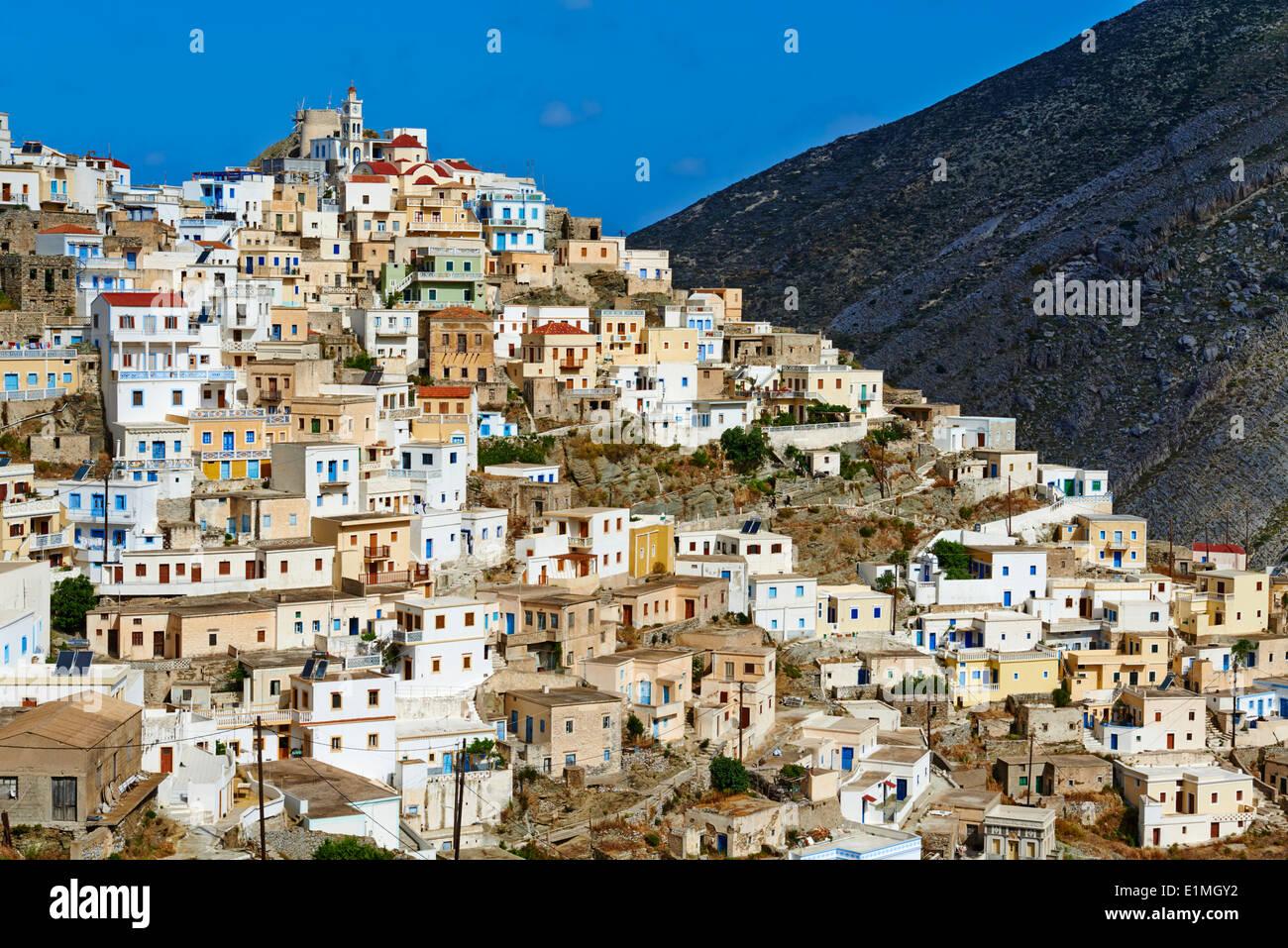 Greece, Dodecanese, Karpathos island, Olympos - Stock Image