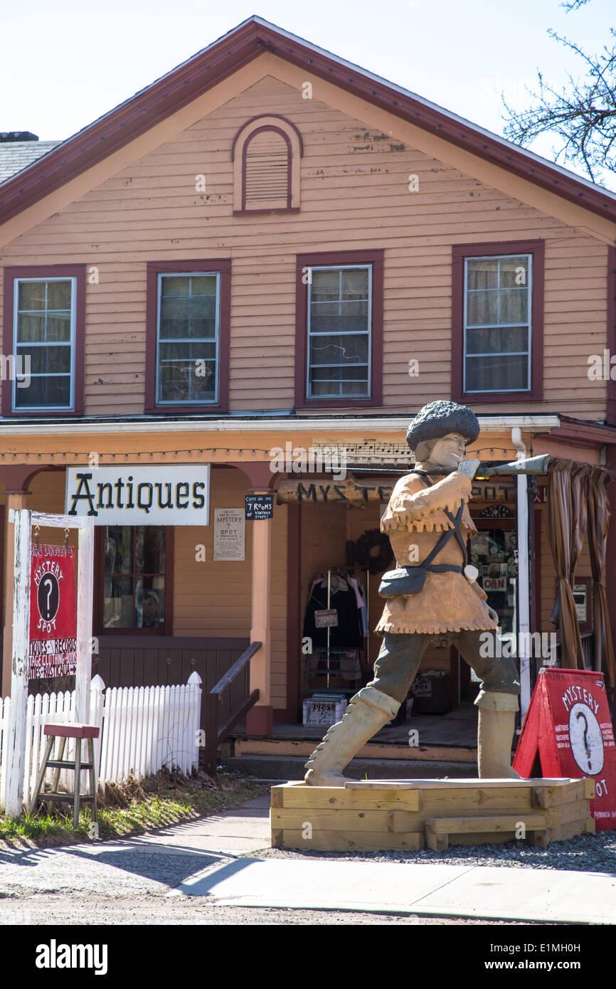 The Mystery Spot, Phoenicia, Catskills, NY - Stock Image