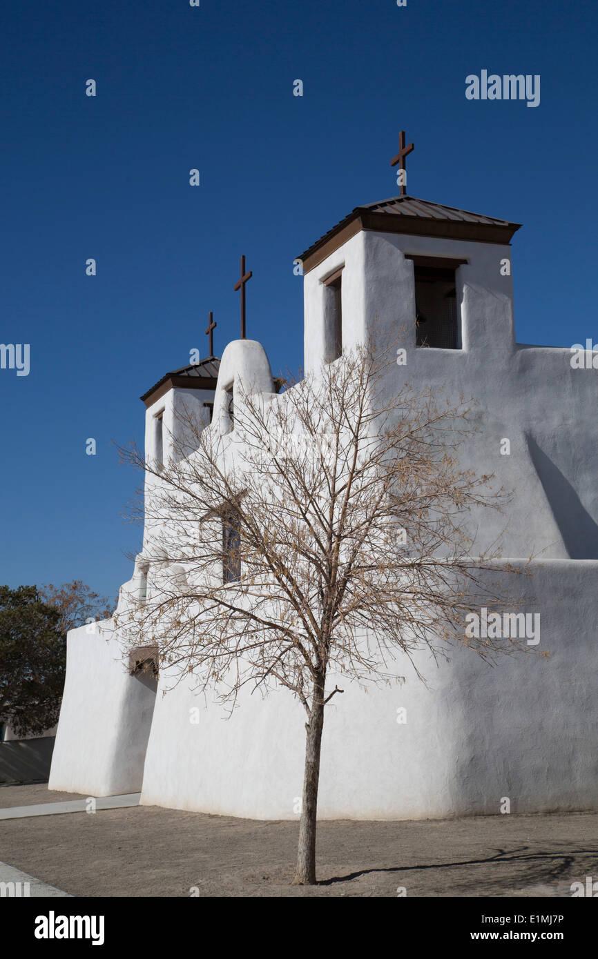USA, New Mexico, Isleta Pueblo, San Agustin de la Isleta Mission, founded 1622 Stock Photo