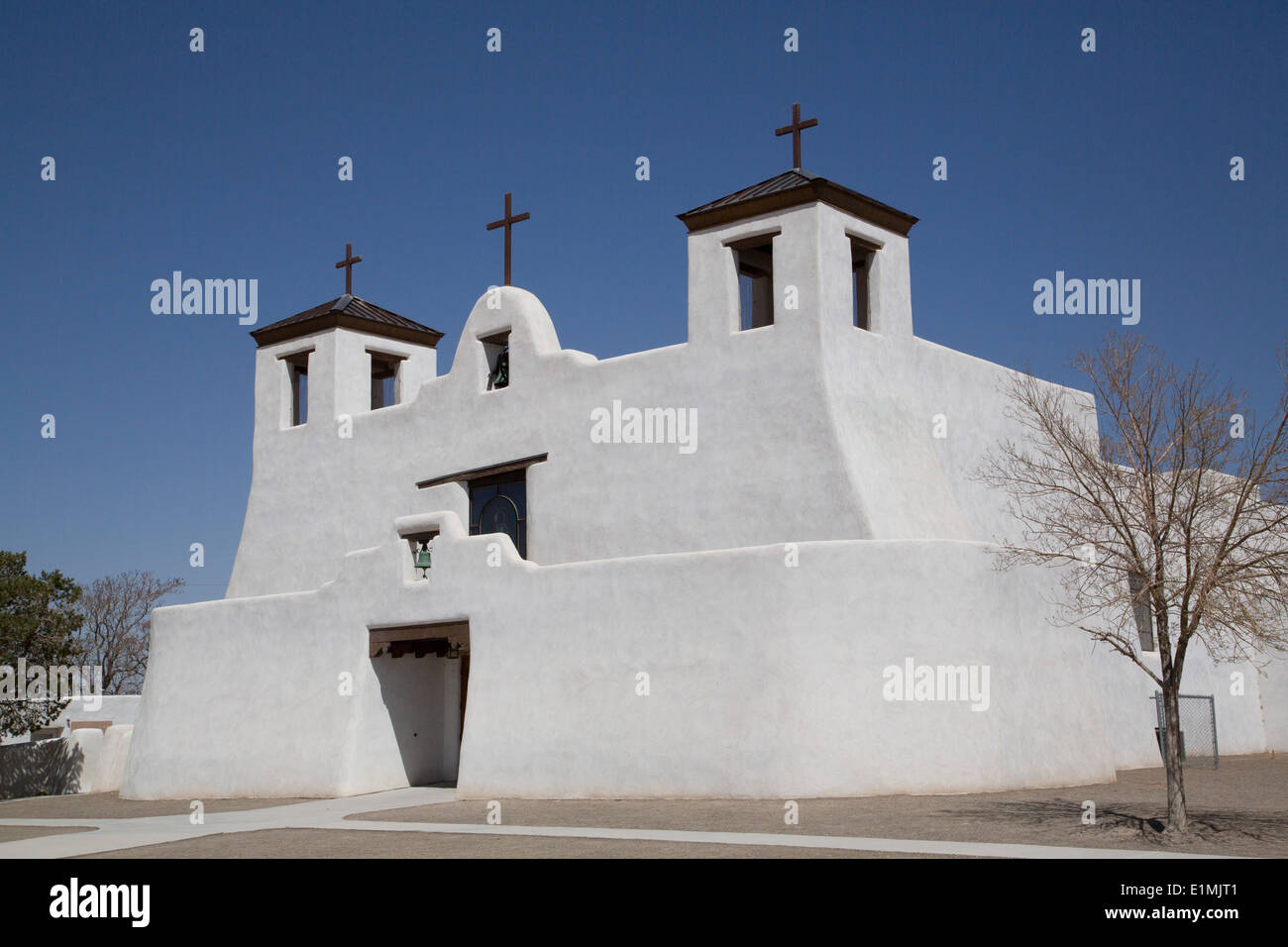 USA, New Mexico, Isleta Pueblo, Saint Augustine Mission, originally built in 1612 - Stock Image
