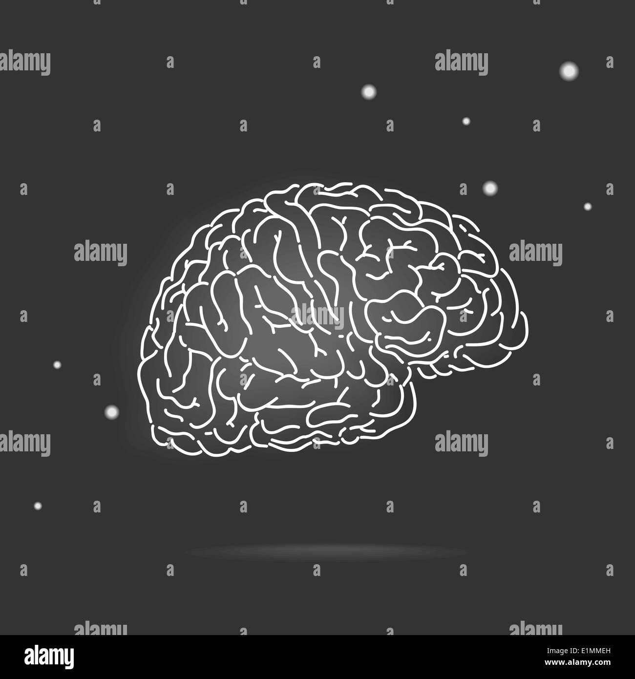 Mysterious brain - Stock Image