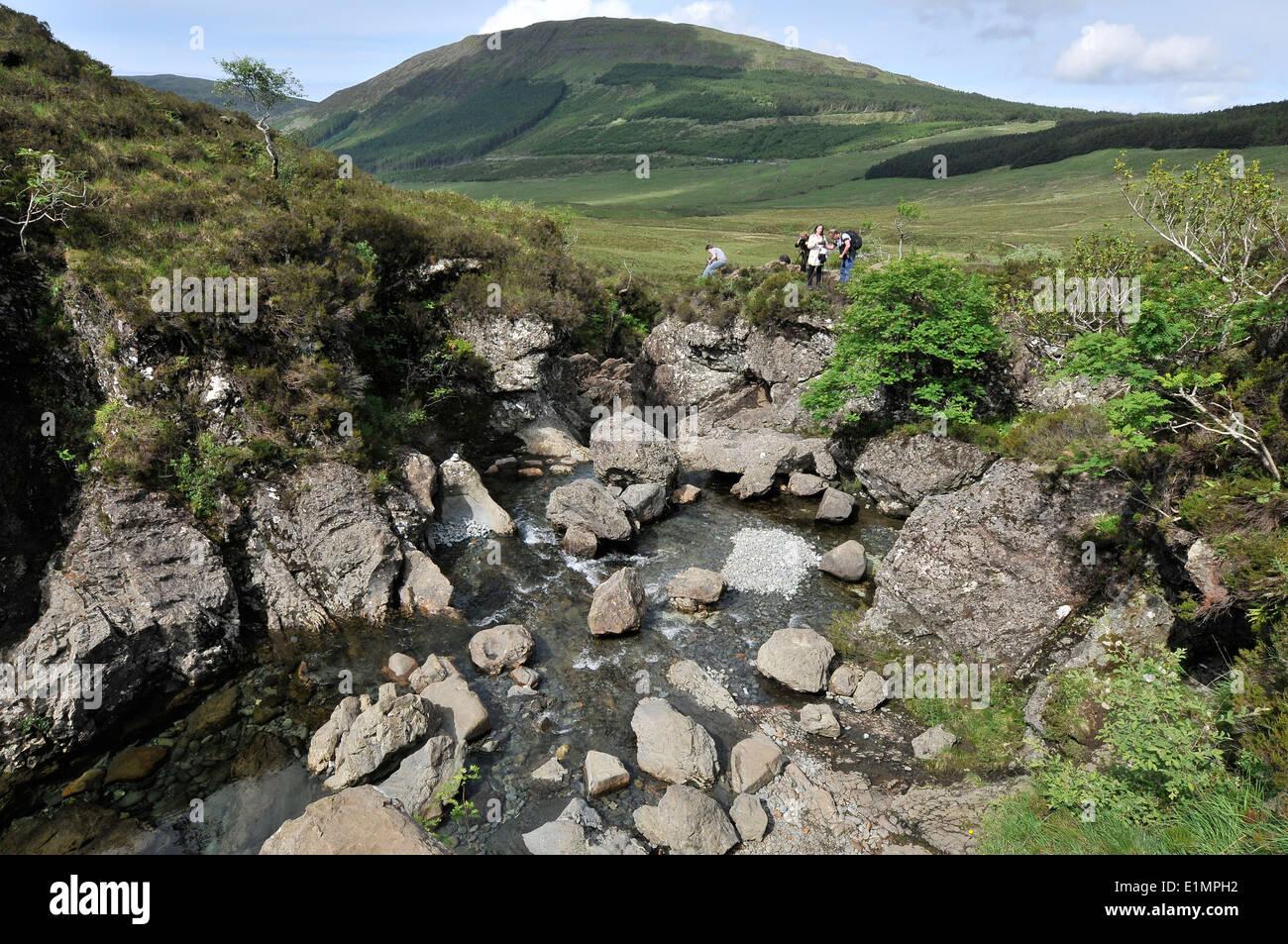 Fairy pools on the Isle of Skye. - Stock Image