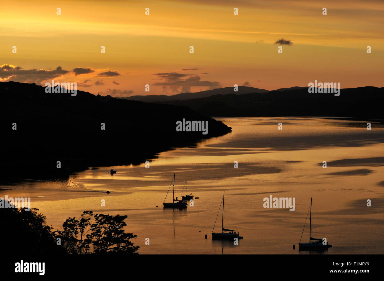 Sunset on the Isle of Skye Stock Photo