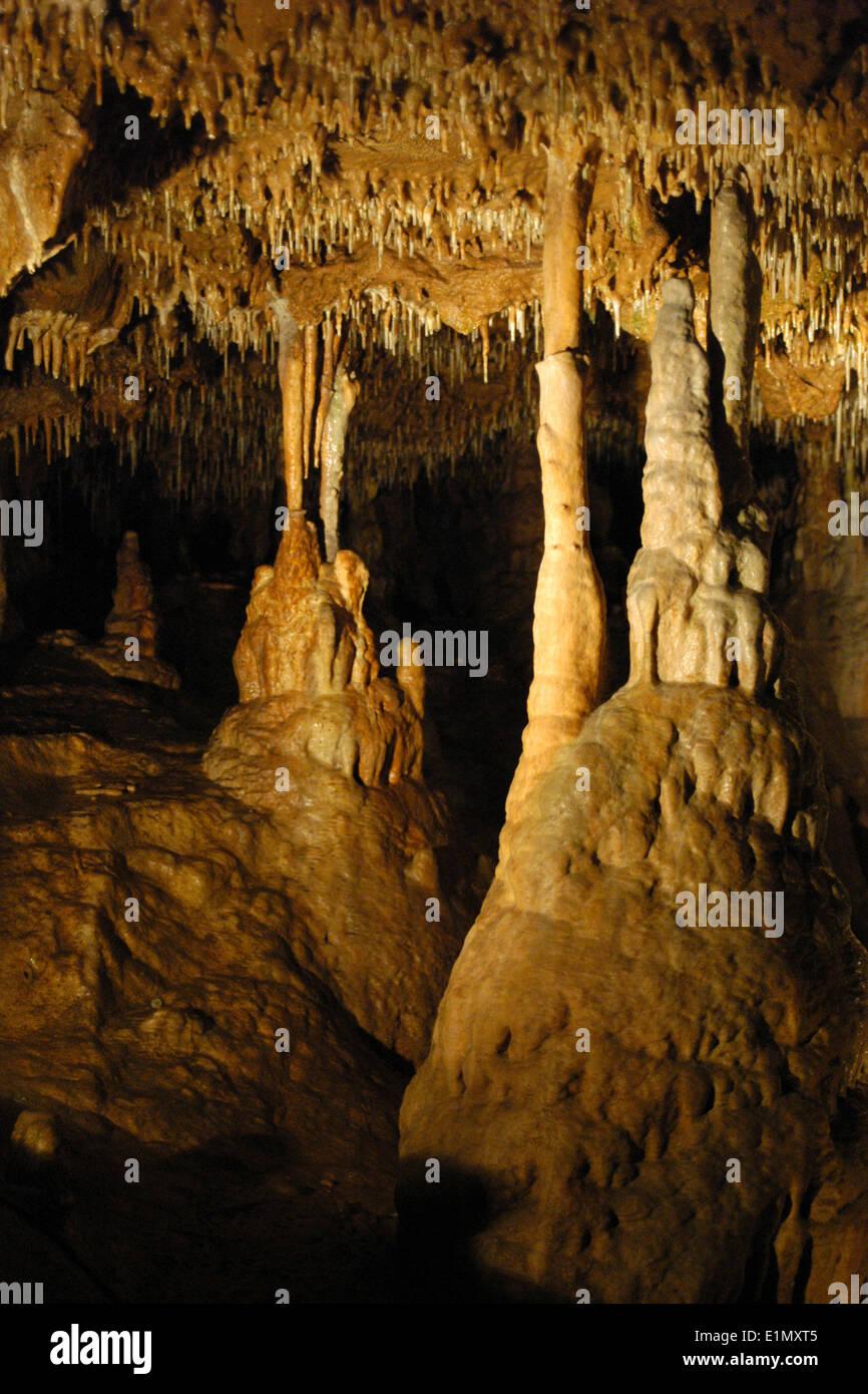Balcarka Cave in the Moravian Karst (Moravsky Kras) Area near Brno, Czech Republic.  - Stock Image