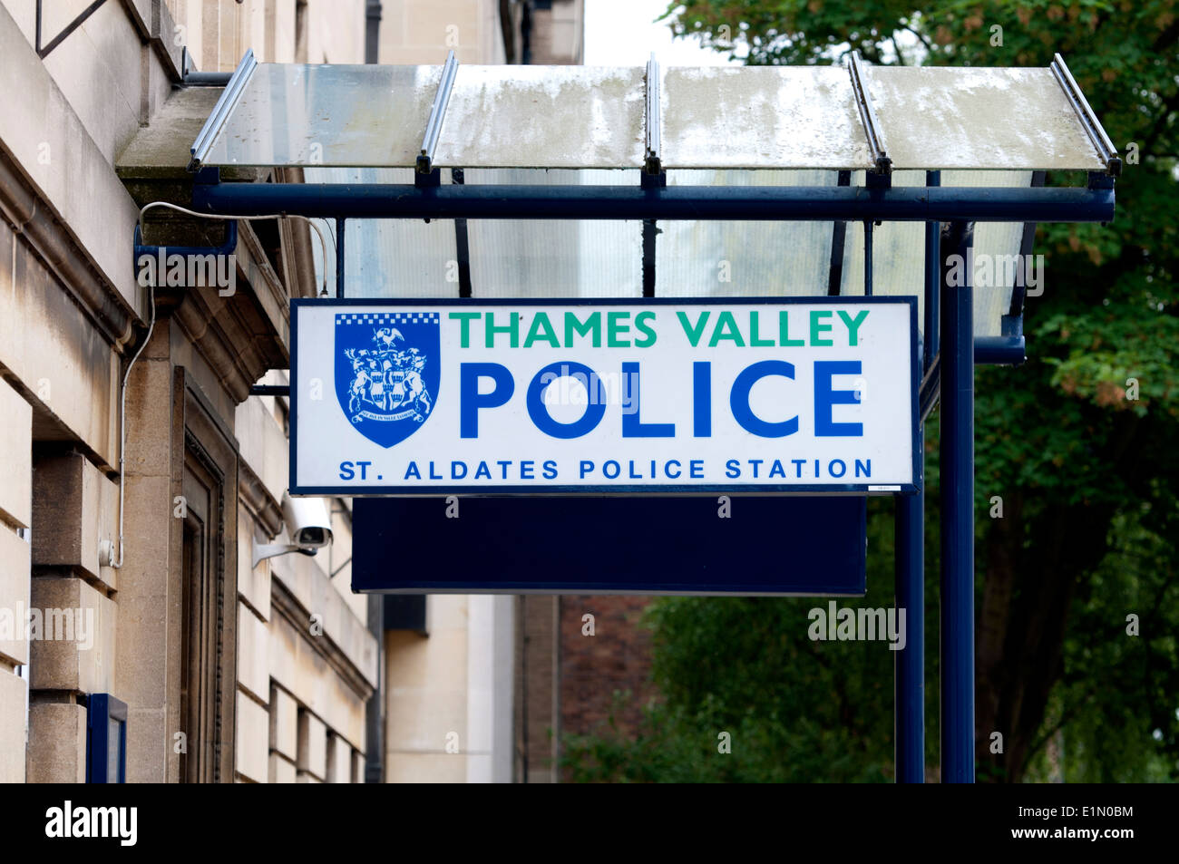 St. Aldates Police Station sign, Oxford, UK - Stock Image