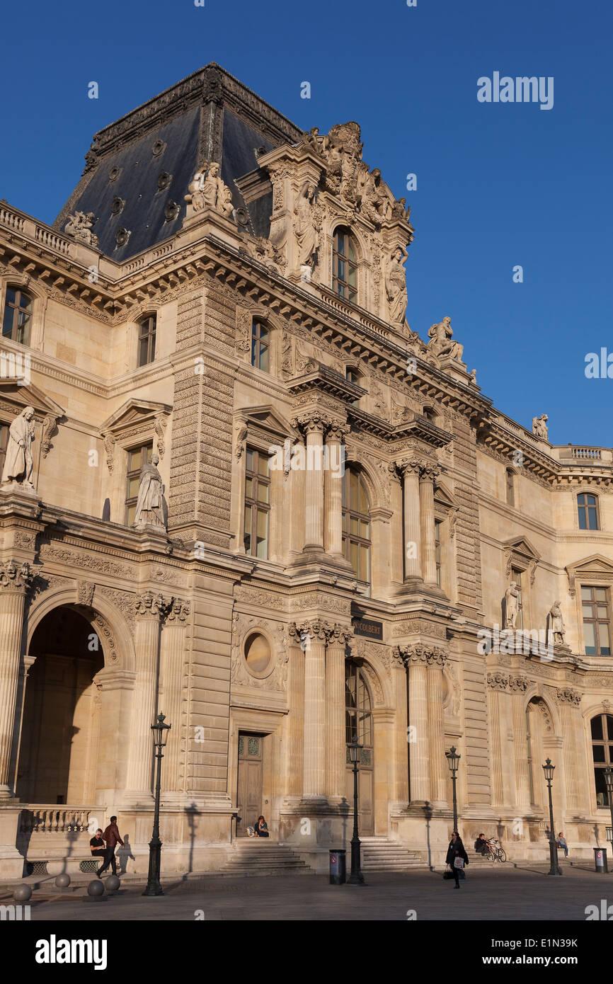 Louvre museum, Paris, Ile-de-france, France - Stock Image
