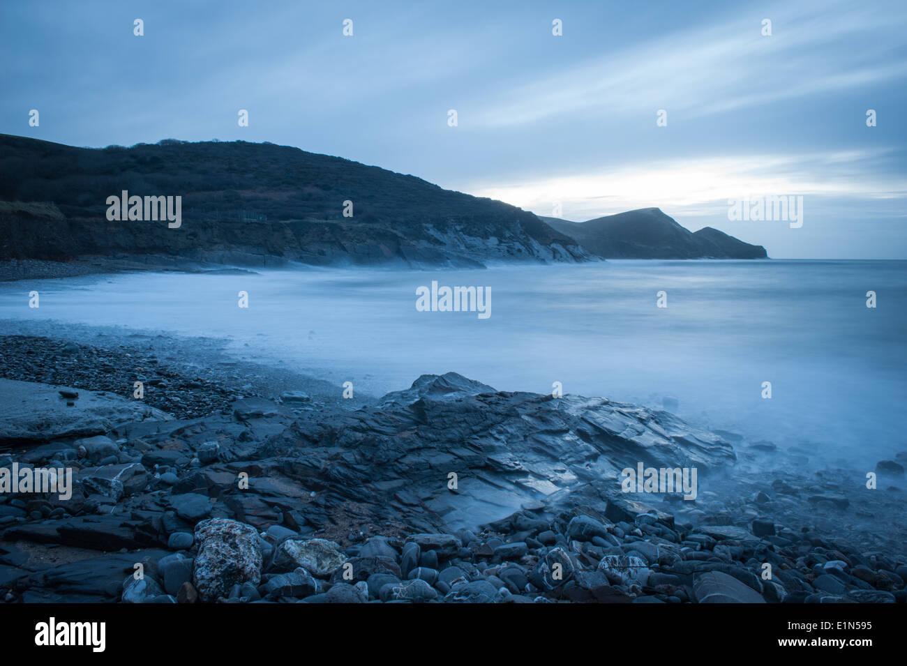 Seascape at Crackington Haven beach North Cornwall - Stock Image