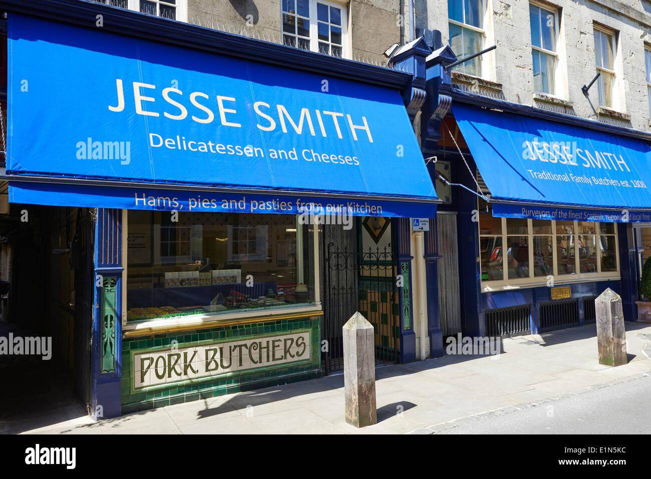 Jesse Smith traditional butcher since 1808 Black Jack Street Cirencester Gloucestershire UK - Stock Image