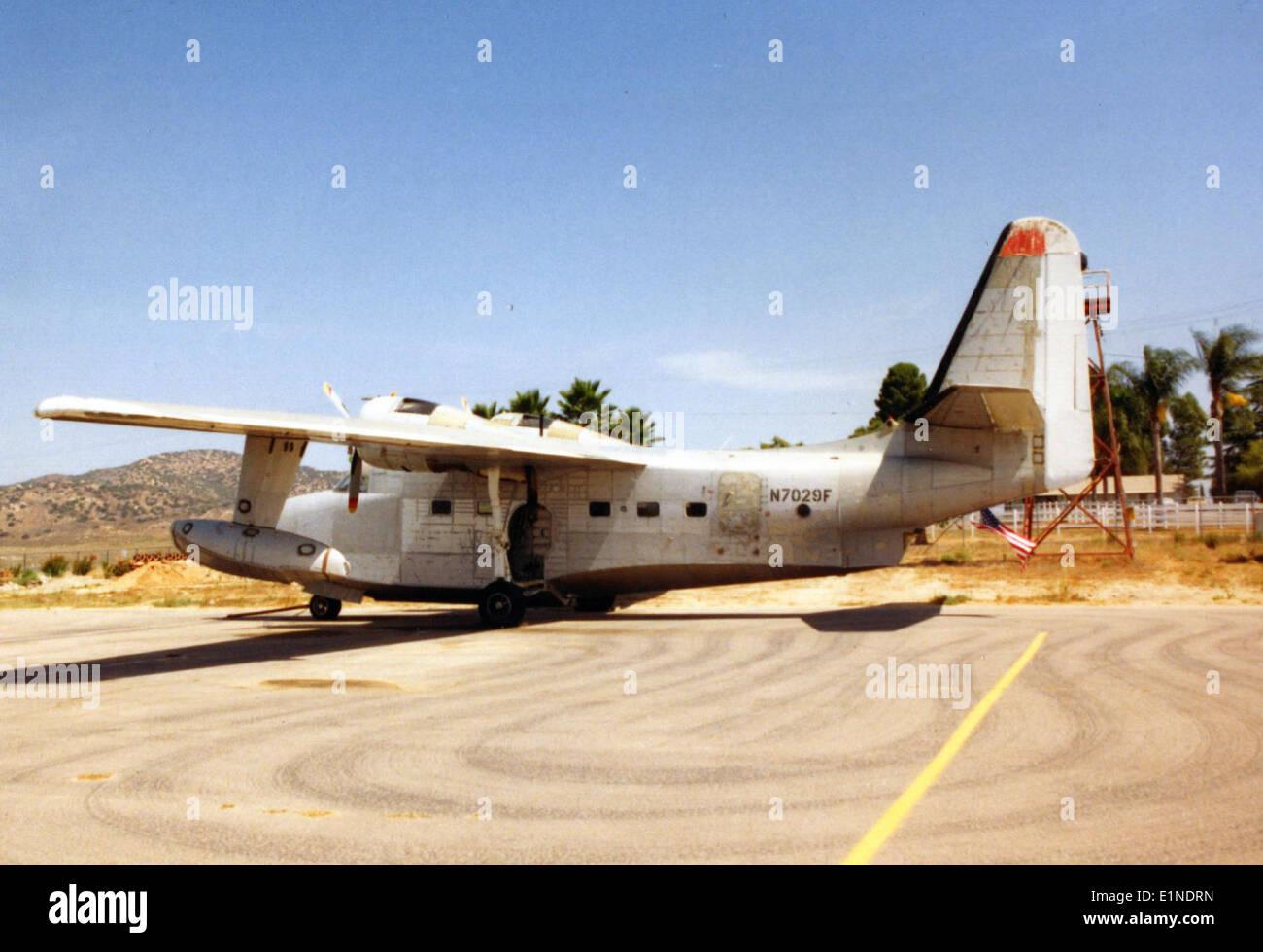 Grumman HU-16E, N7029F, Ramona CA, Aug93 Stock Photo