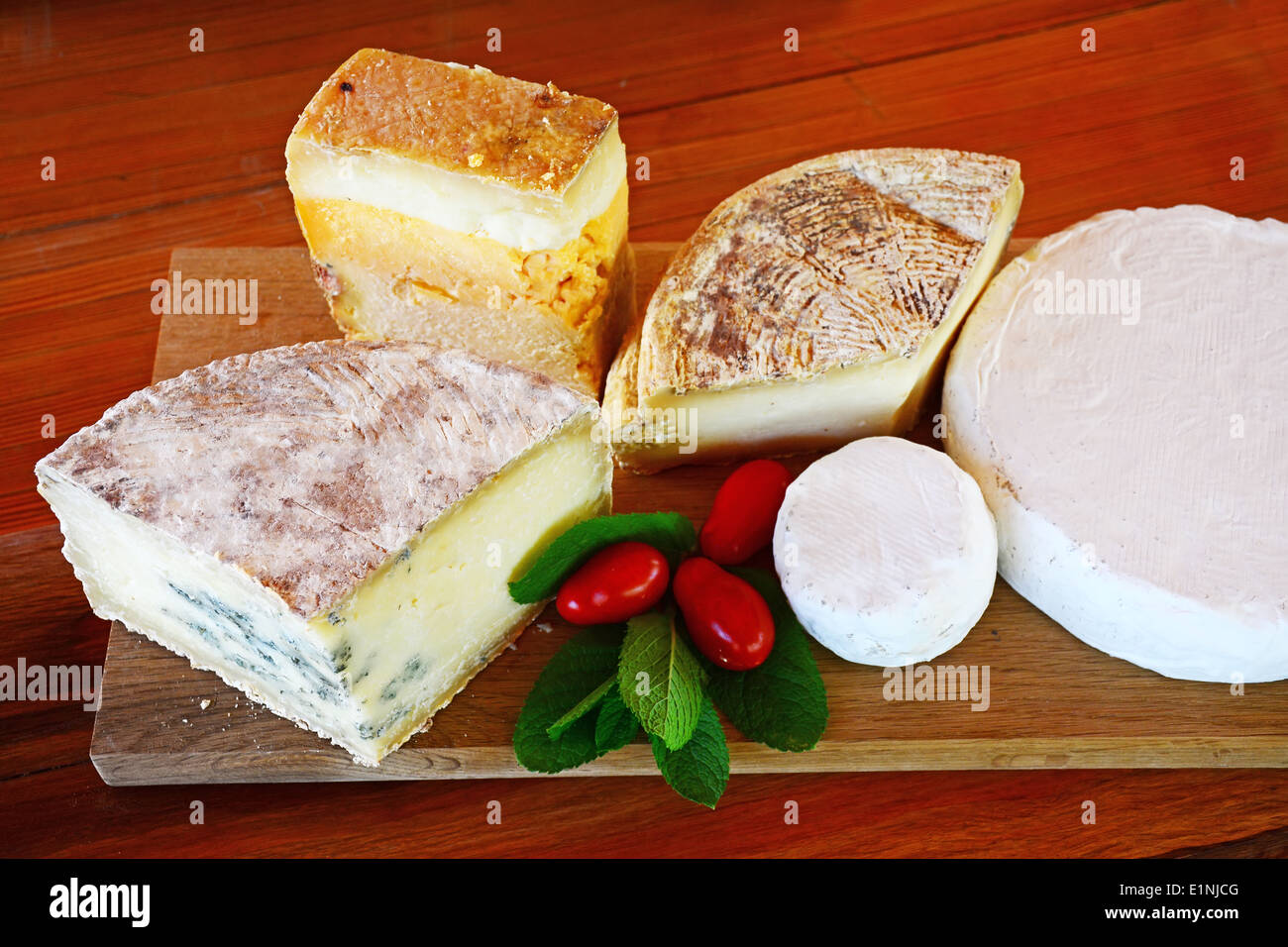 Goat cheese mix - Stock Image