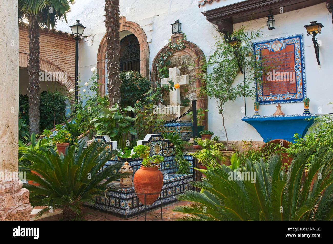Tomb of Jose Maria 'El Tempranillo', Tourist Route of the Bandits, Inmaculada Concepcion church, Alameda, Malaga province, Andalusia, Spain, Europe - Stock Image