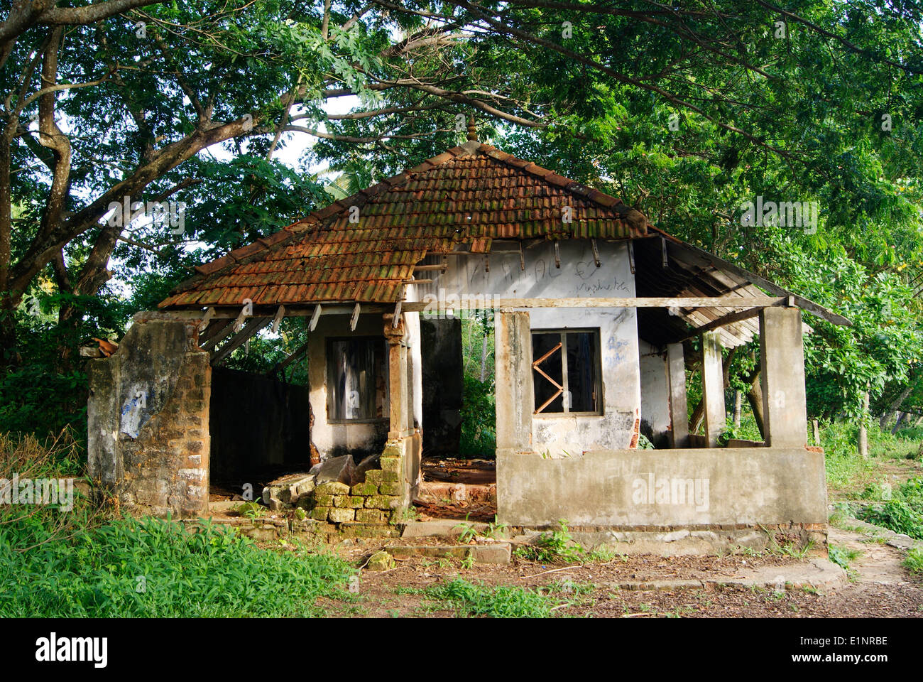 House Exterior Design India Wrecked Old Haunted House In Kerala India Near The