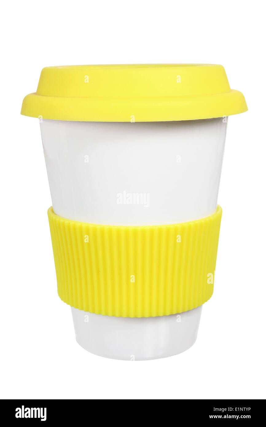 Cup with Lid - Stock Image