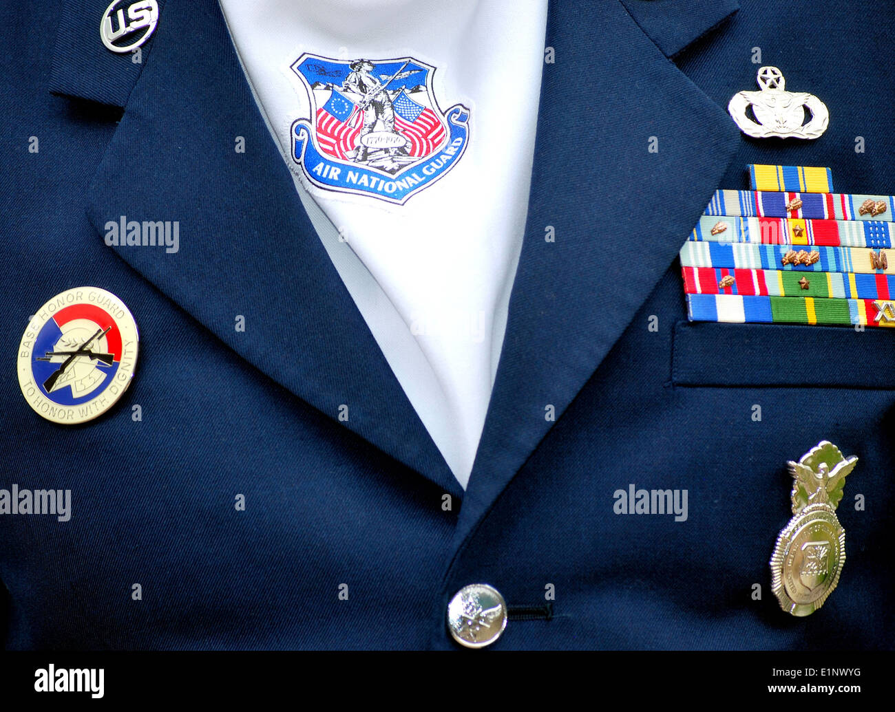 Air national guard standing tall and proud. - Stock Image
