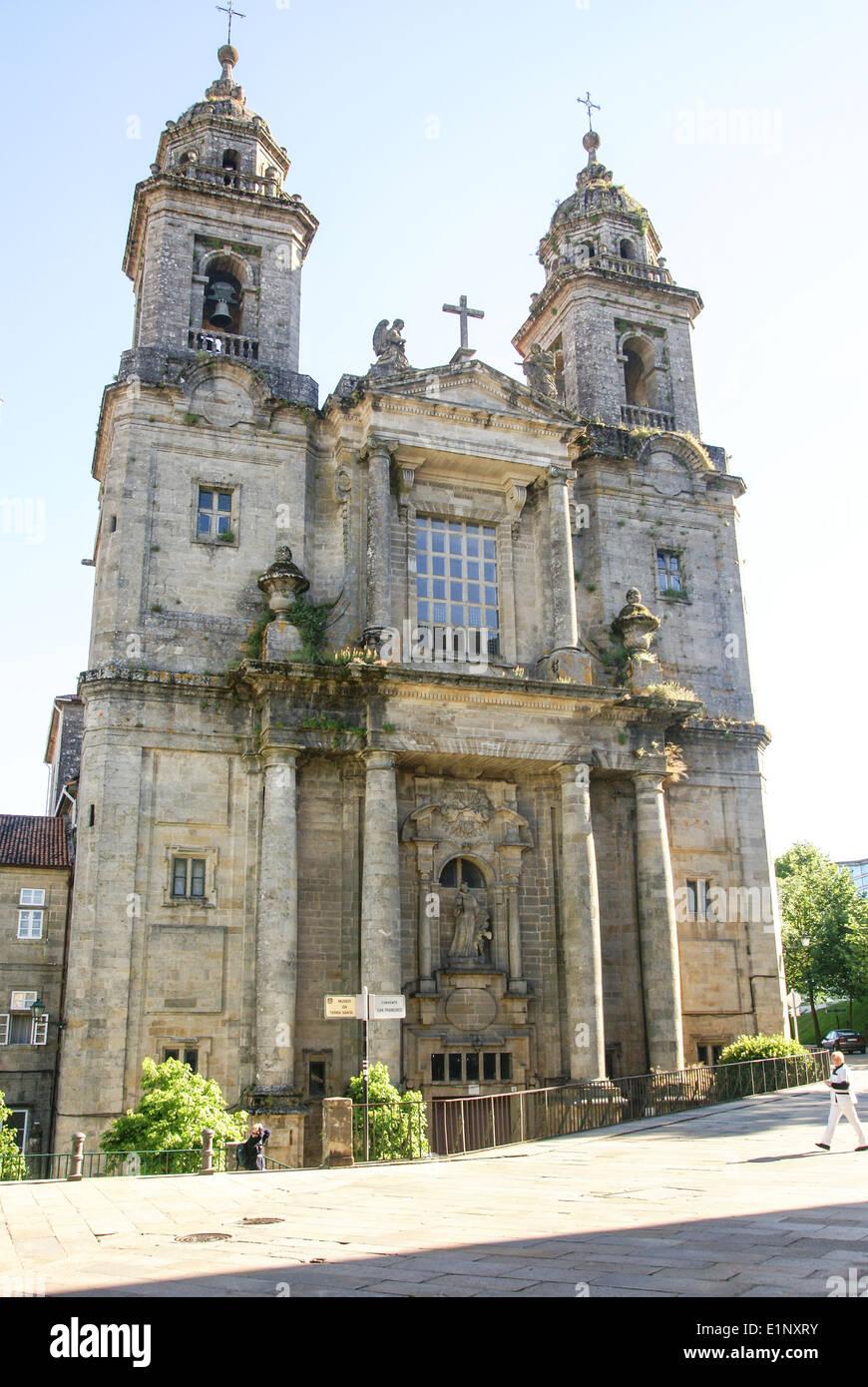 Church and convent of San Francisco Santiago de Compostela, Galicia, Spain - Stock Image