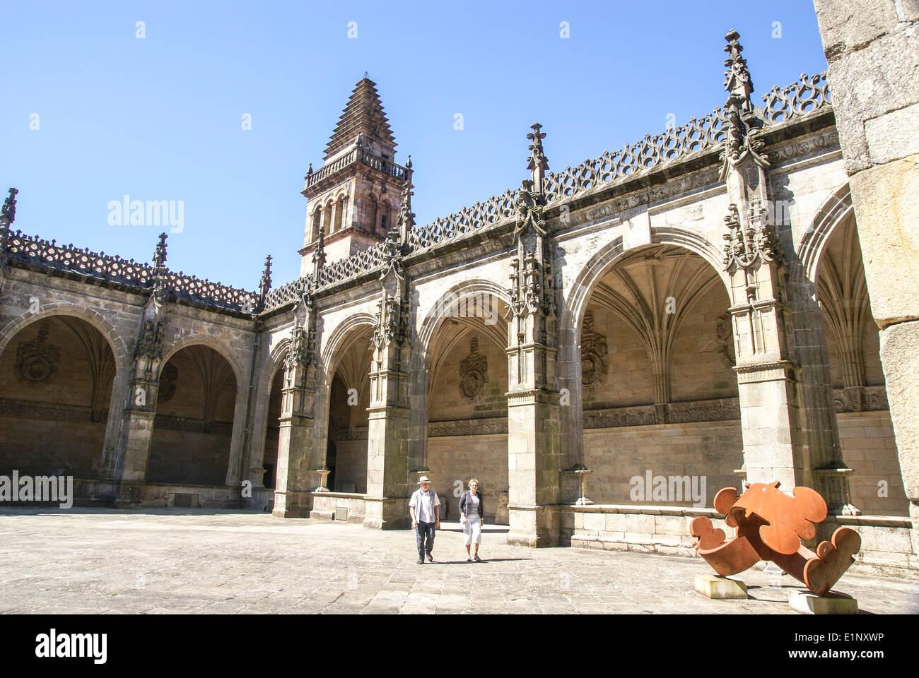 St James Cathedral Santiago de Compostela, Galicia, Spain - Stock Image