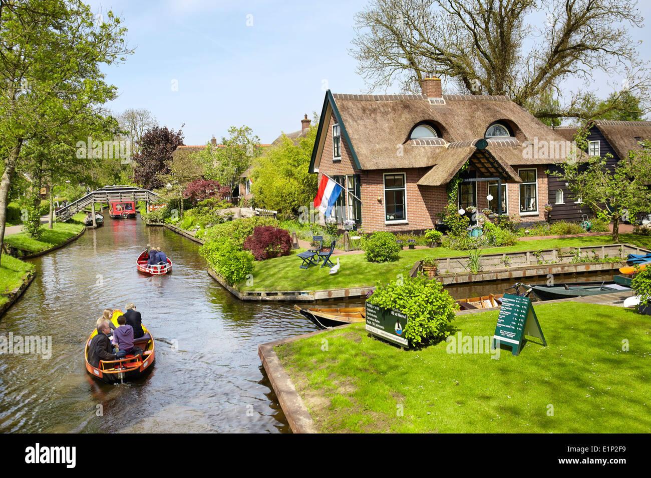 Giethoorn village - Holland Netherlands - Stock Image