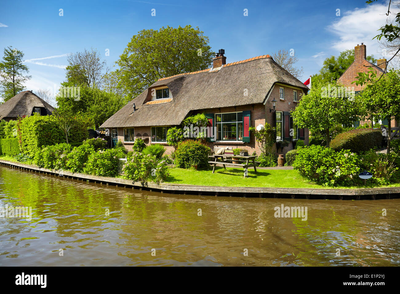 Giethoorn village - Holland Netherlands - Stock Image