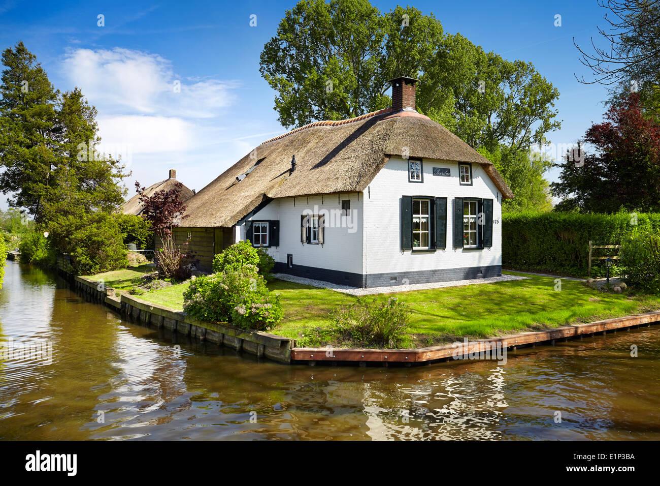 Giethoorn canals village - Holland Netherlands - Stock Image