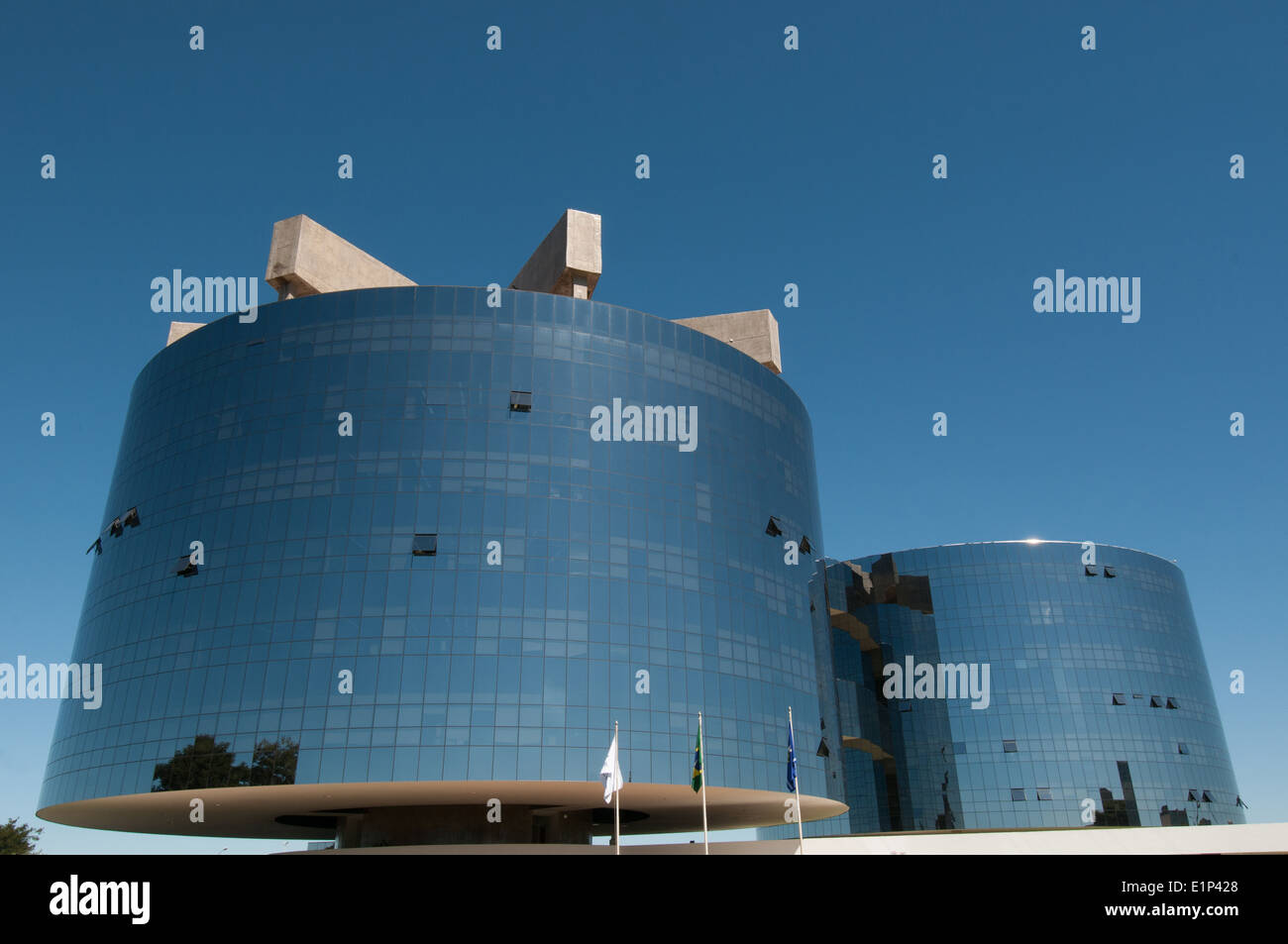 Towers of the Federal Prosecution Office - General Prosecutor - in Brasilia Brazil - By Niemeyer Oscar - Stock Image