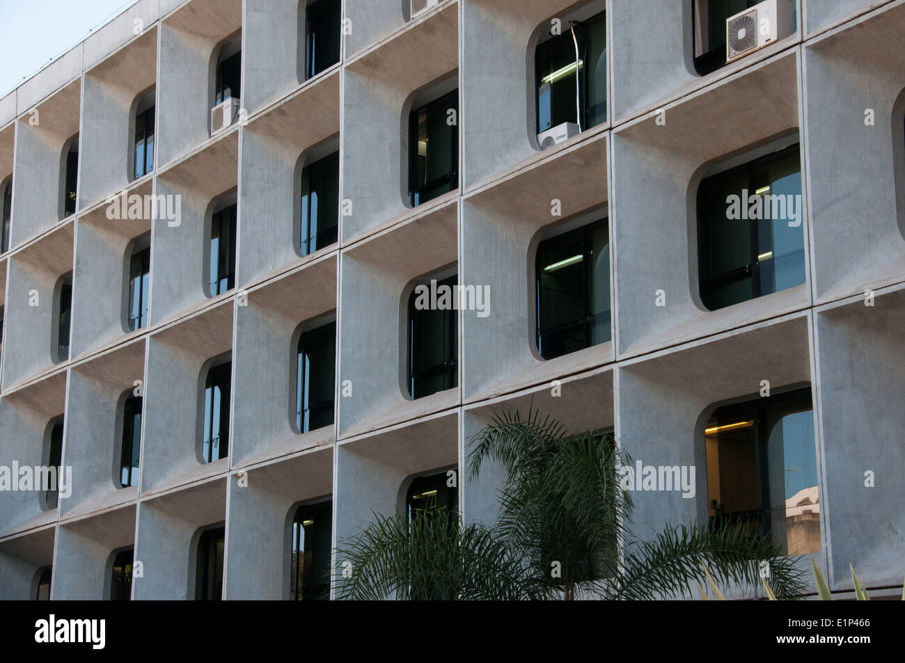 Modern architecture downtown office building Brasilia - Stock Image