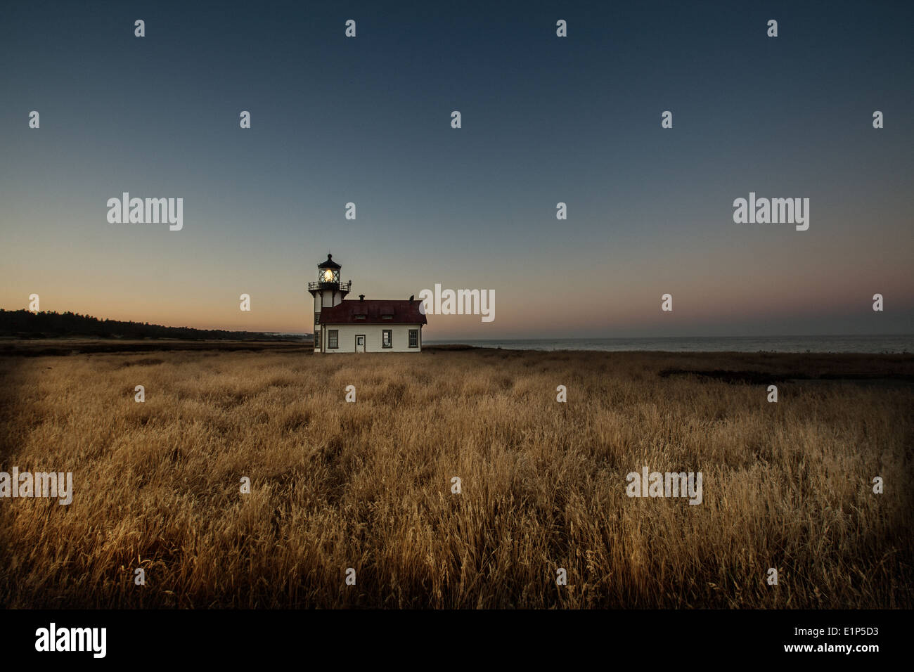Point Cabrillo Lighthouse - Stock Image