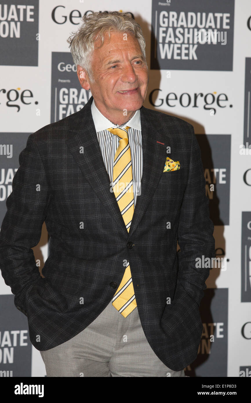 Jeff Banks CBE attends the awards show at Graduate Fashion Week, GFW. - Stock Image