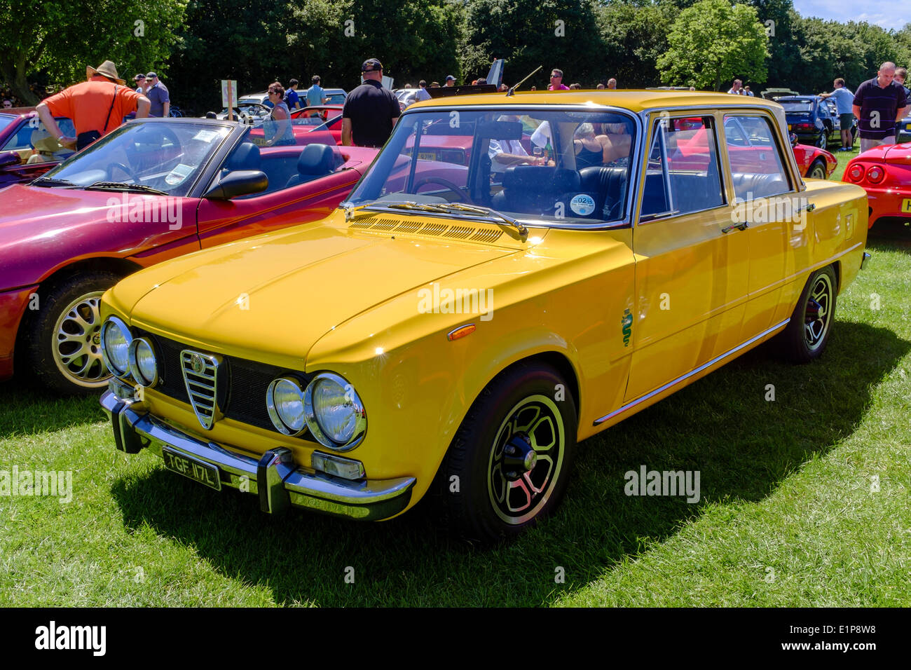 Alfa Romeo Giulia Super on display at Bromley Pageant of Motoring annual classic car show. - Stock Image