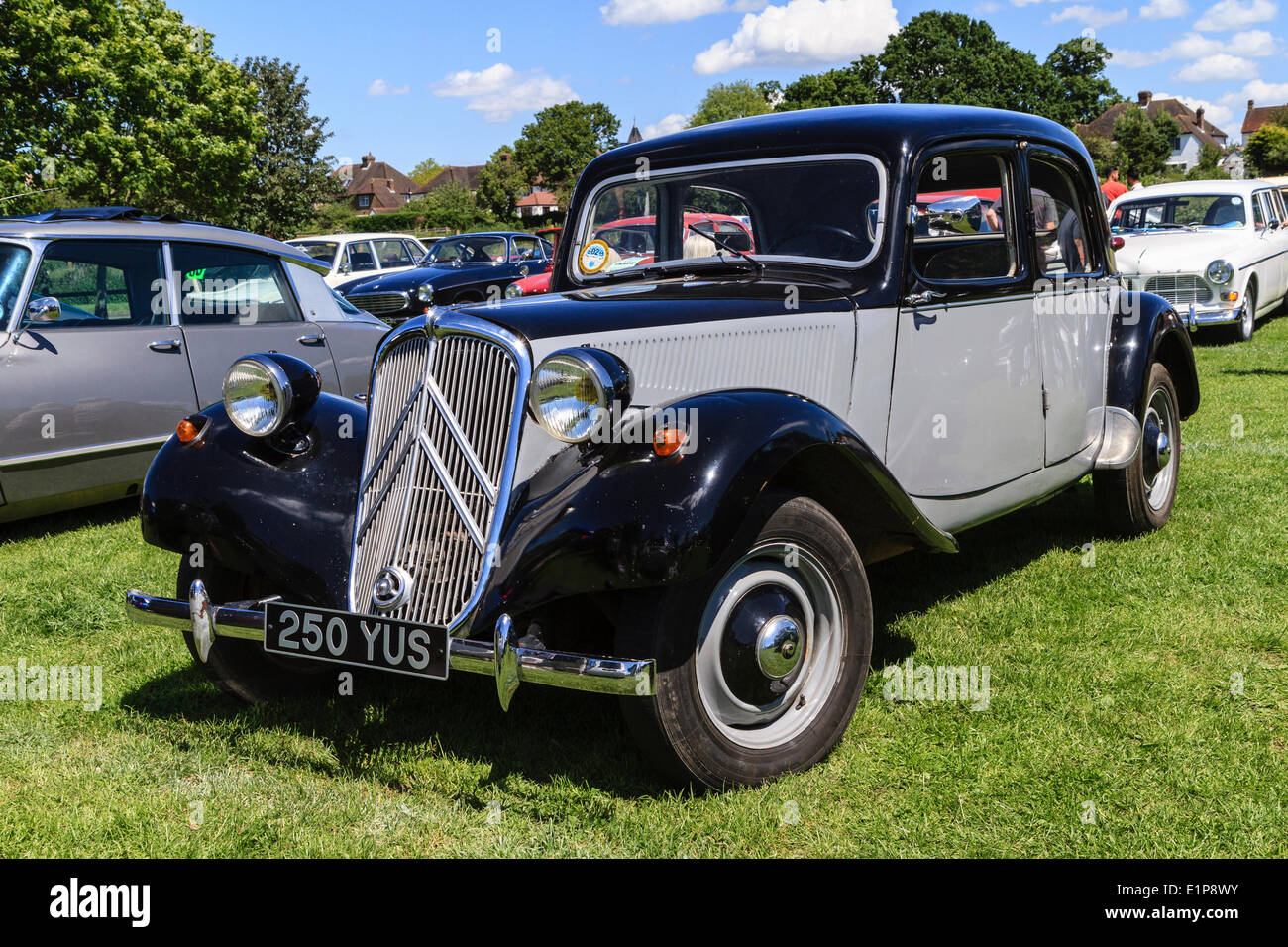 1953 Citroen Traction Avant on display at Bromley Pageant of Motoring annual classic car show. - Stock Image