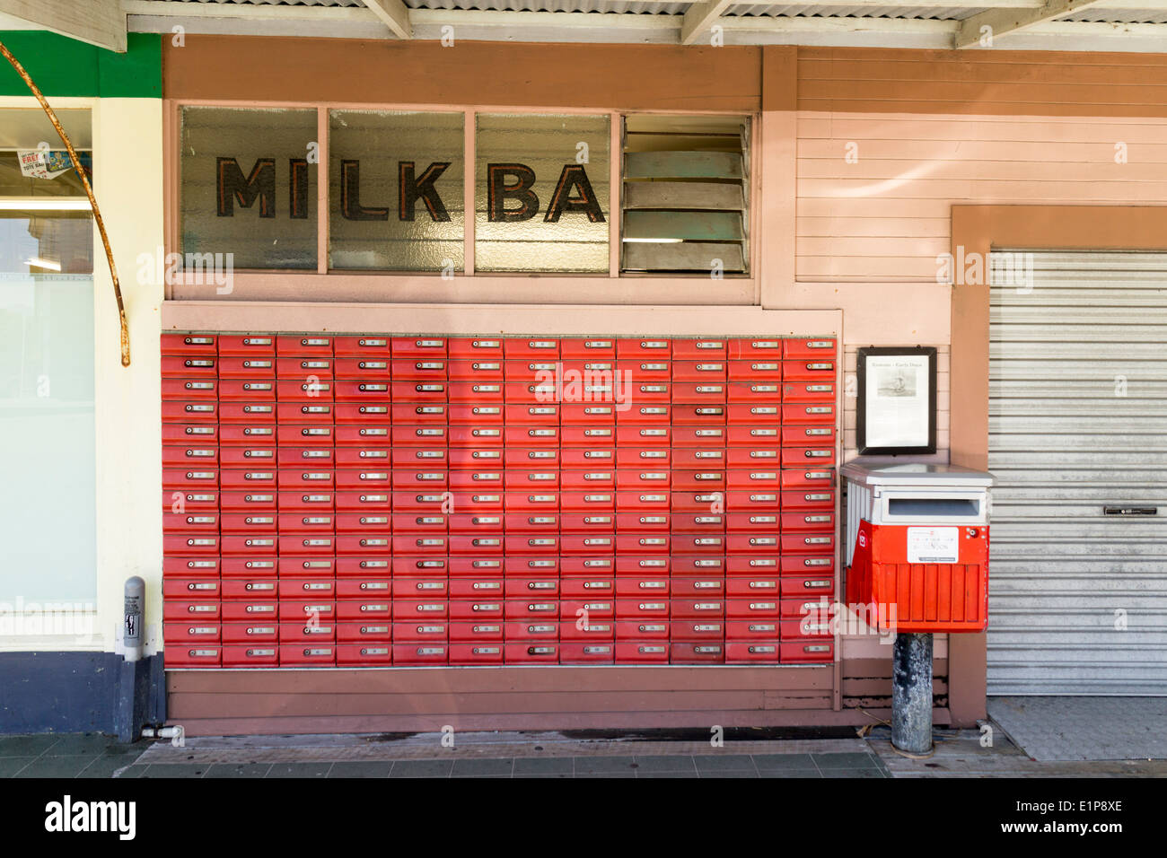 New Zealand Rawene Northland Milk Bar With Post Office Boxes Po Box