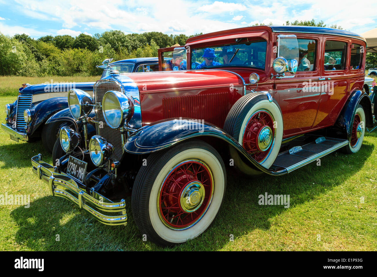 Classic 1930s American Buick car on display at Bromley Pageant of Motoring. - Stock Image