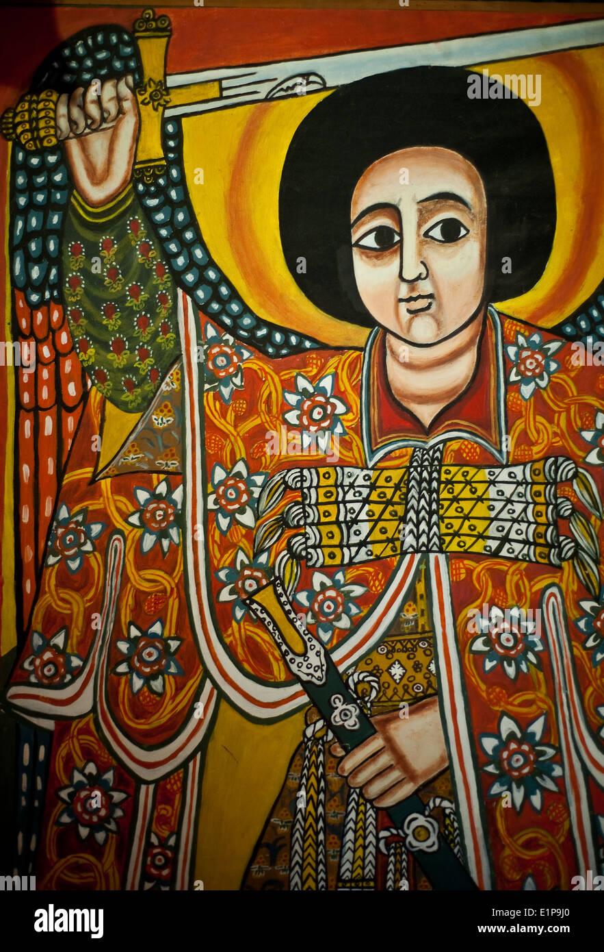 Christian painting ( Ethiopia) - Stock Image