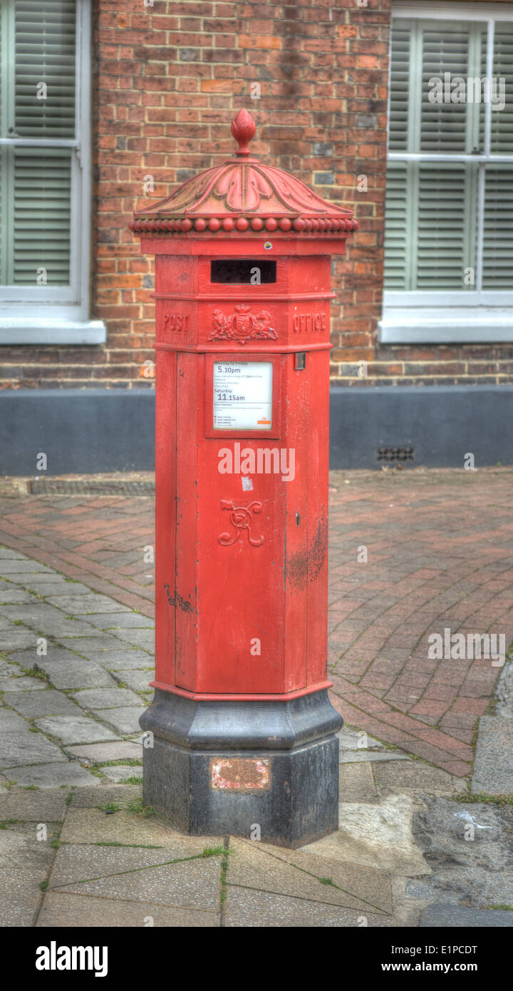 Victorian post Box.  English letter box - Stock Image