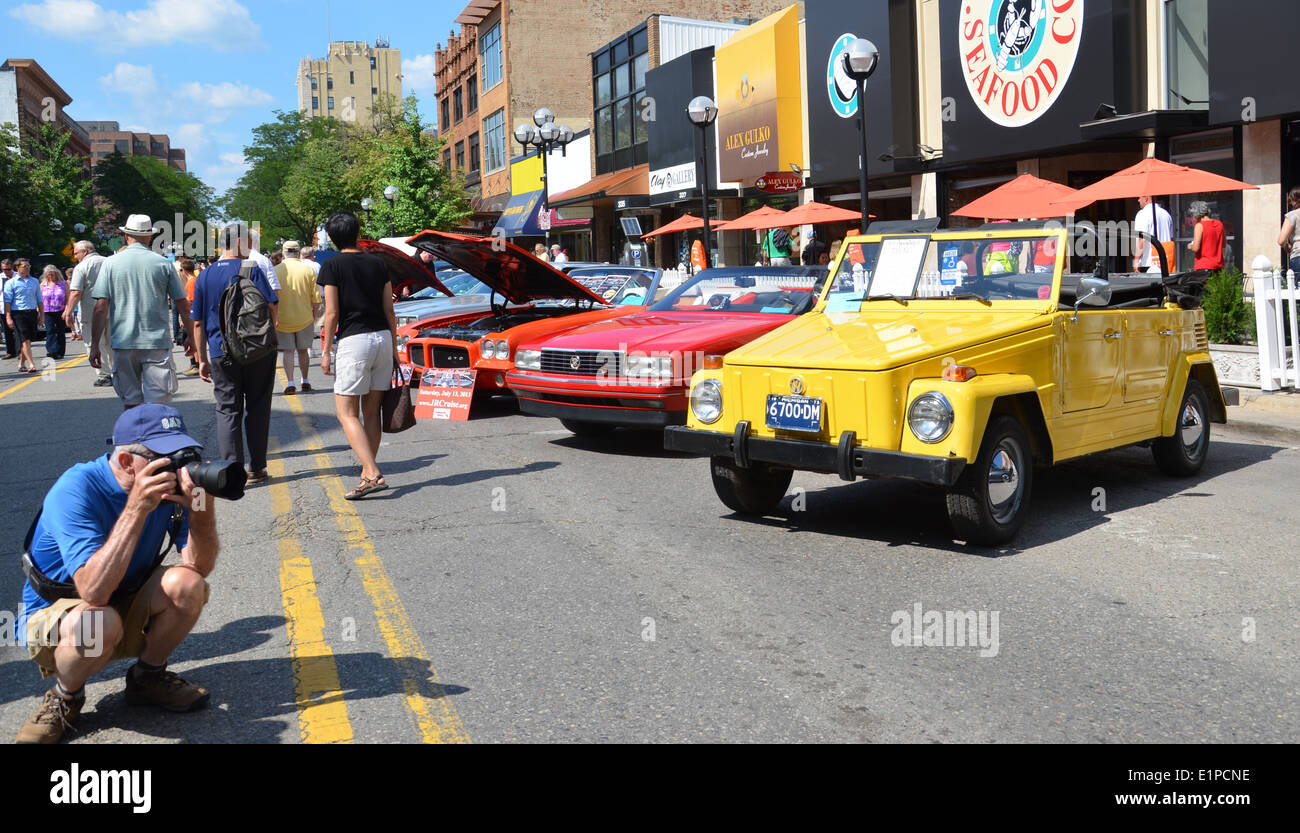 ANN ARBOR, MI - JULY 12: 1975 Volkswagen Thing at the Rolling Sculpture car show July 12, 2013 in Ann Arbor, MI - Stock Image