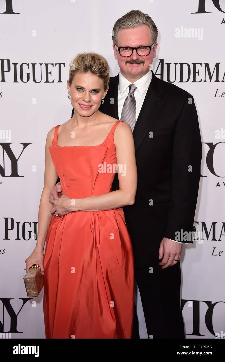 New York, NY, USA. 8th June, 2014. Celia Keenan Bolger, Brian J. Smith at arrivals for The 68th Annual Tony Awards 2014, Radio City Music Hall, New York, NY June 8, 2014. Credit:  Gregorio T. Binuya/Everett Collection/Alamy Live News - Stock Image