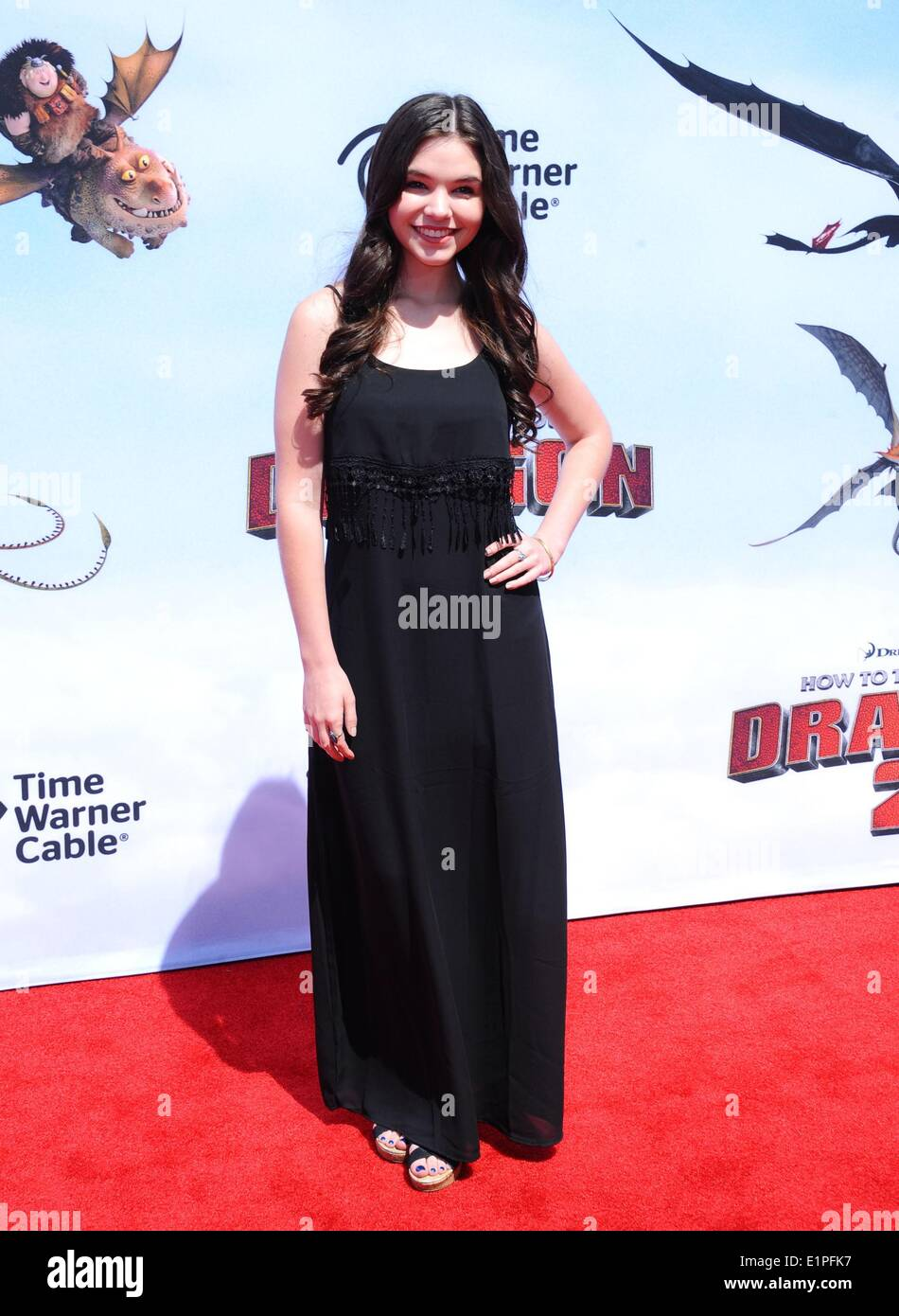 Los Angeles, CA, USA. 8th June, 2014. Madison McLaughlin at arrivals for HOW TO TRAIN YOUR DRAGON 2 Premiere, The Regency Village Theatre, Los Angeles, CA June 8, 2014. Credit:  Dee Cercone/Everett Collection/Alamy Live News - Stock Image