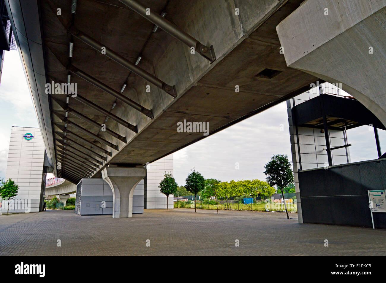 West Silvertown DLR Station, London Borough of Newham, London, England, United Kingdom - Stock Image