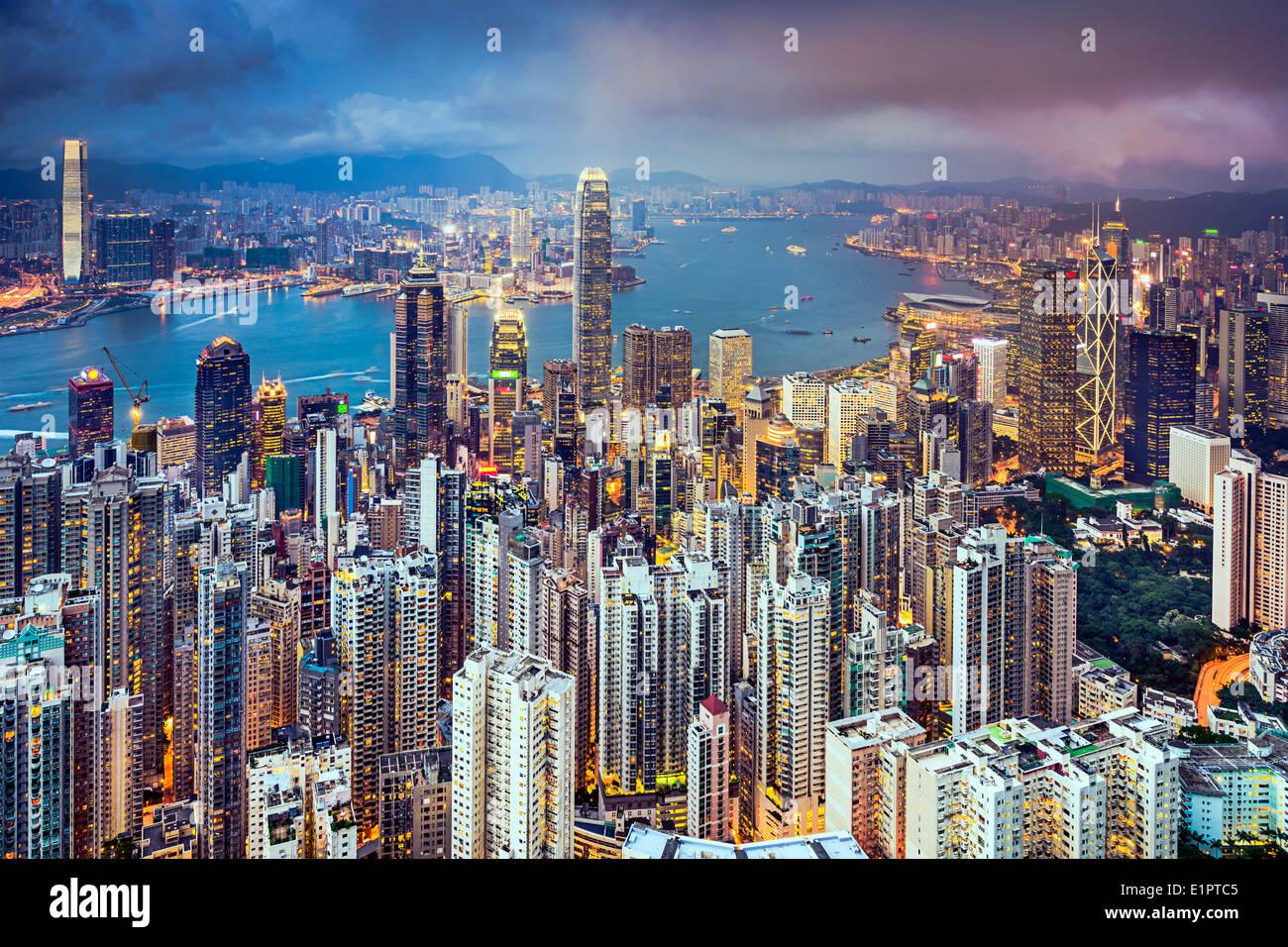 Hong Kong, China City Skyline - Stock Image