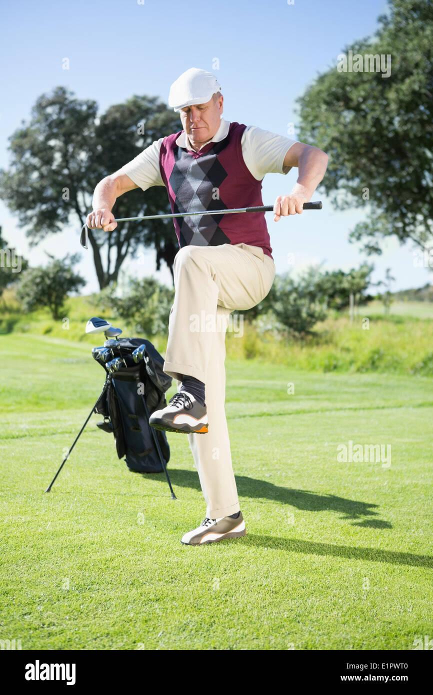 Angry Golfer Stock Photos & Angry Golfer Stock Images - Alamy on cartoon easy draw golf club, easy drawings to draw golf club, cartoon golf club bag, cartoon swinging golf club,