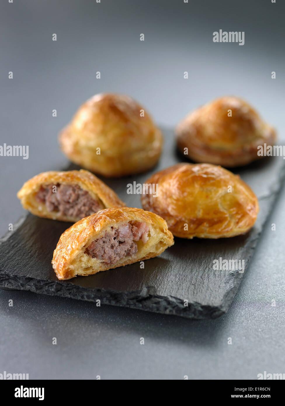 Mini meat pies - Stock Image