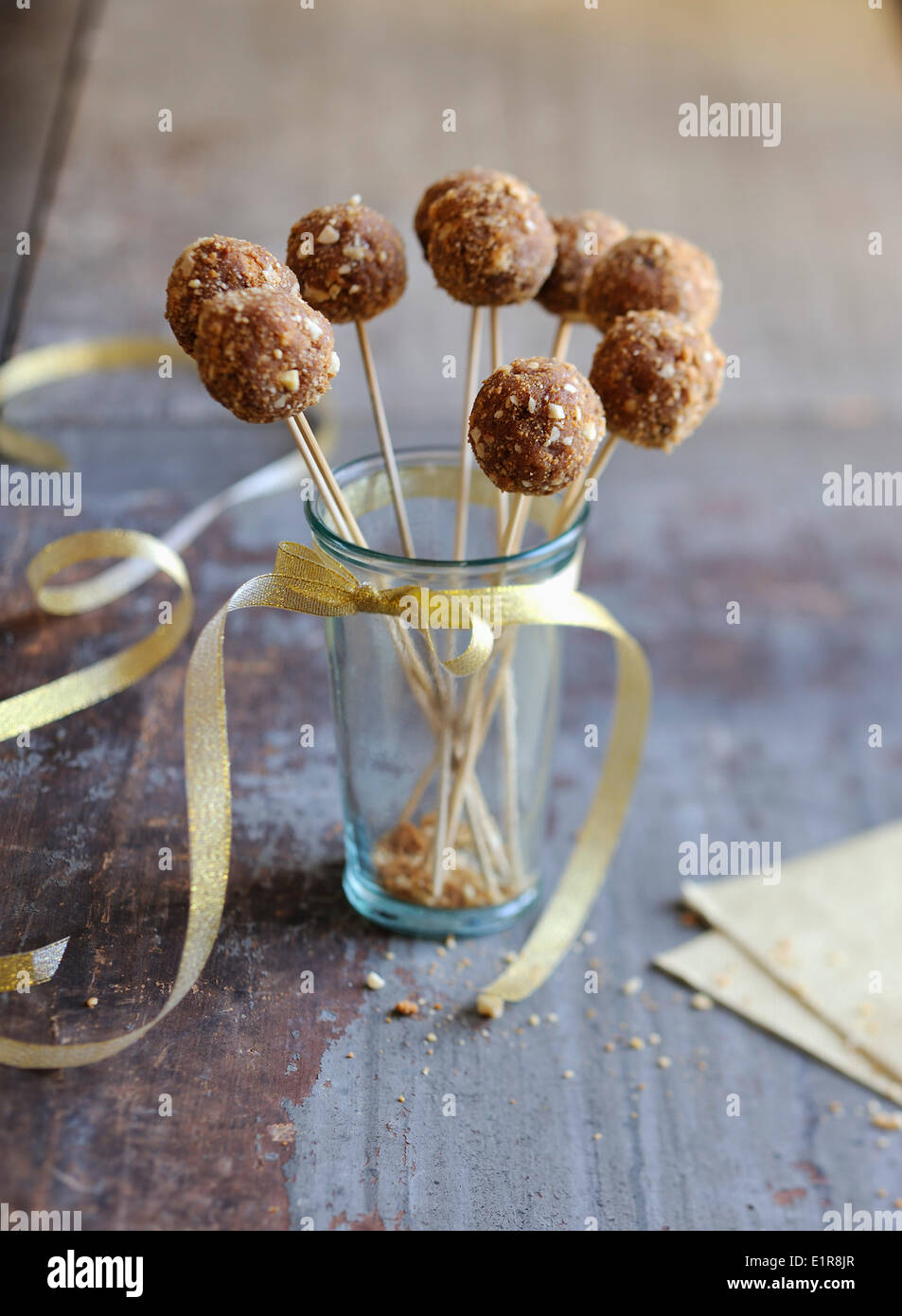 Gingerbread and foie gras savoury popcakes - Stock Image
