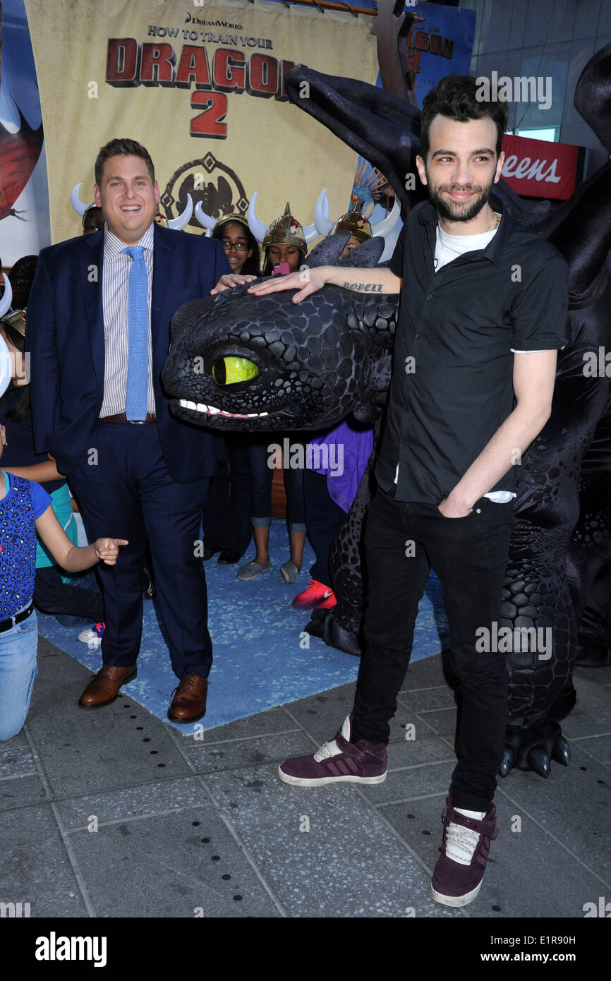 Actors jonah hill and jay baruchel attend the how to train your actors jonah hill and jay baruchel attend the how to train your dragon 2 photo call in times square on june 6 2014 in new york city ccuart Image collections