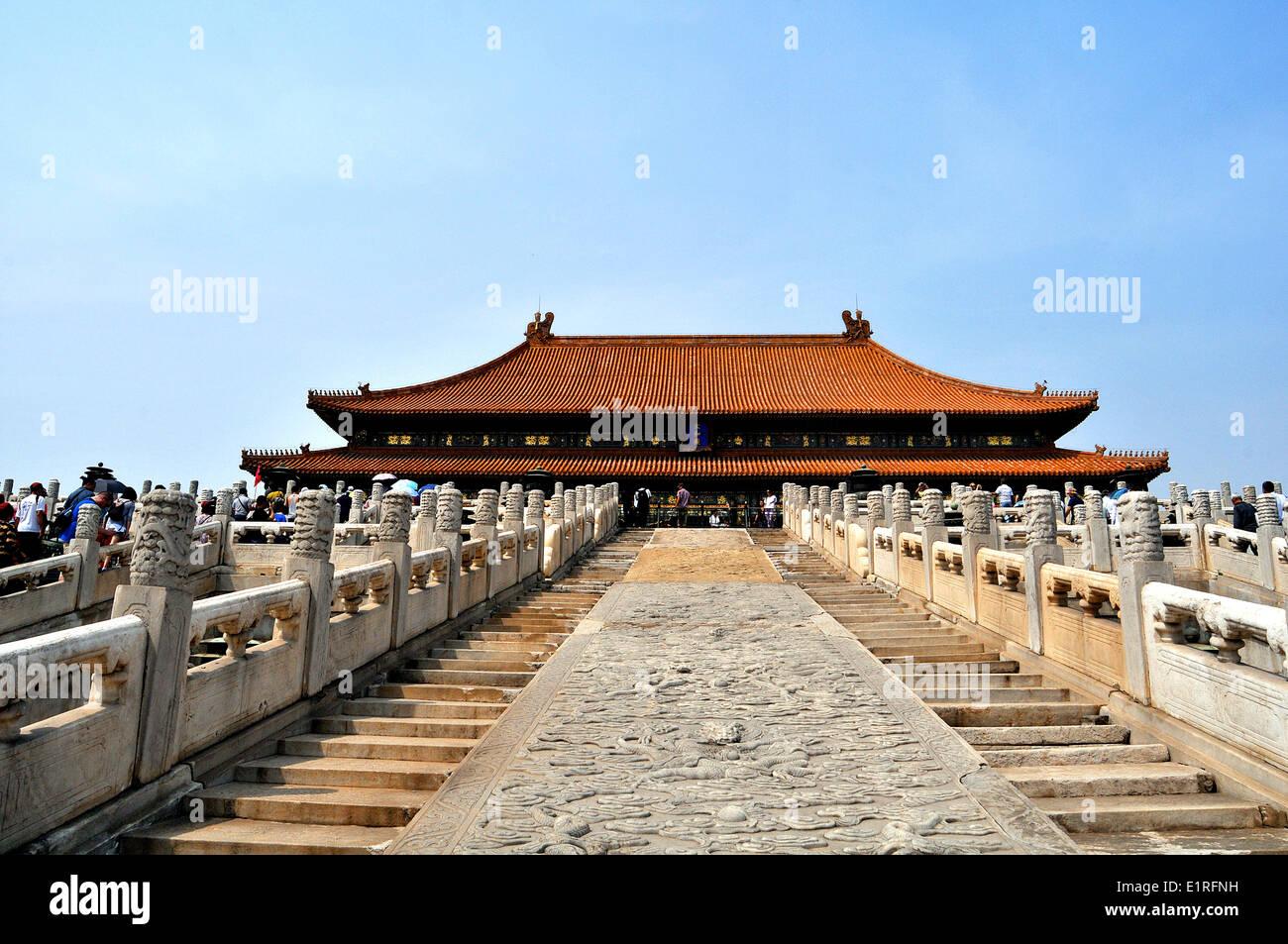 The Forbidden City Beijing - Stock Image