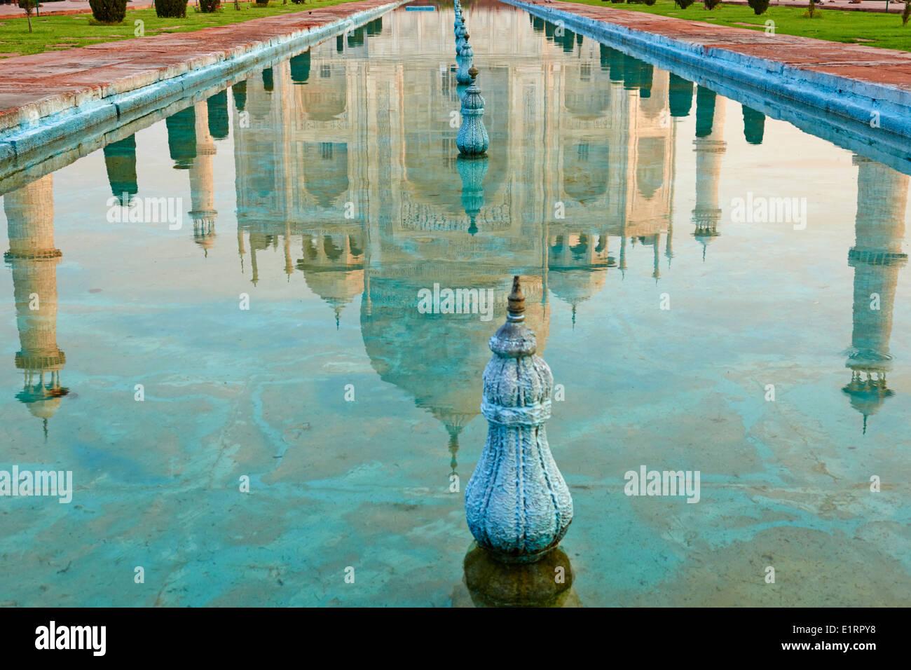 India, Uttar Pradesh state, Agra, Taj Mahal, Unesco world heritage - Stock Image