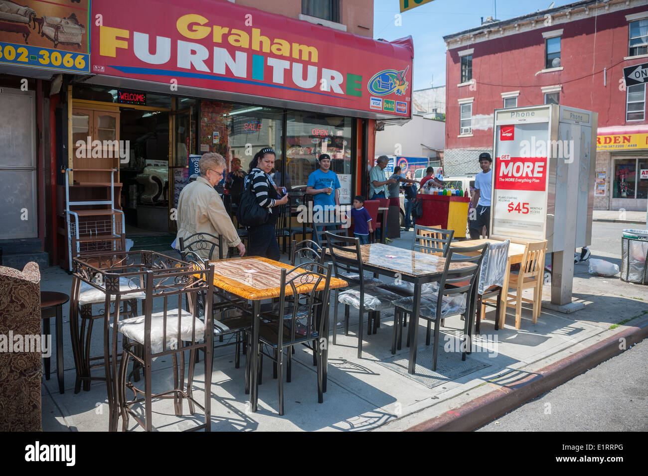 Furniture Store On Busy Graham Avenue In The Bushwick Neighborhood