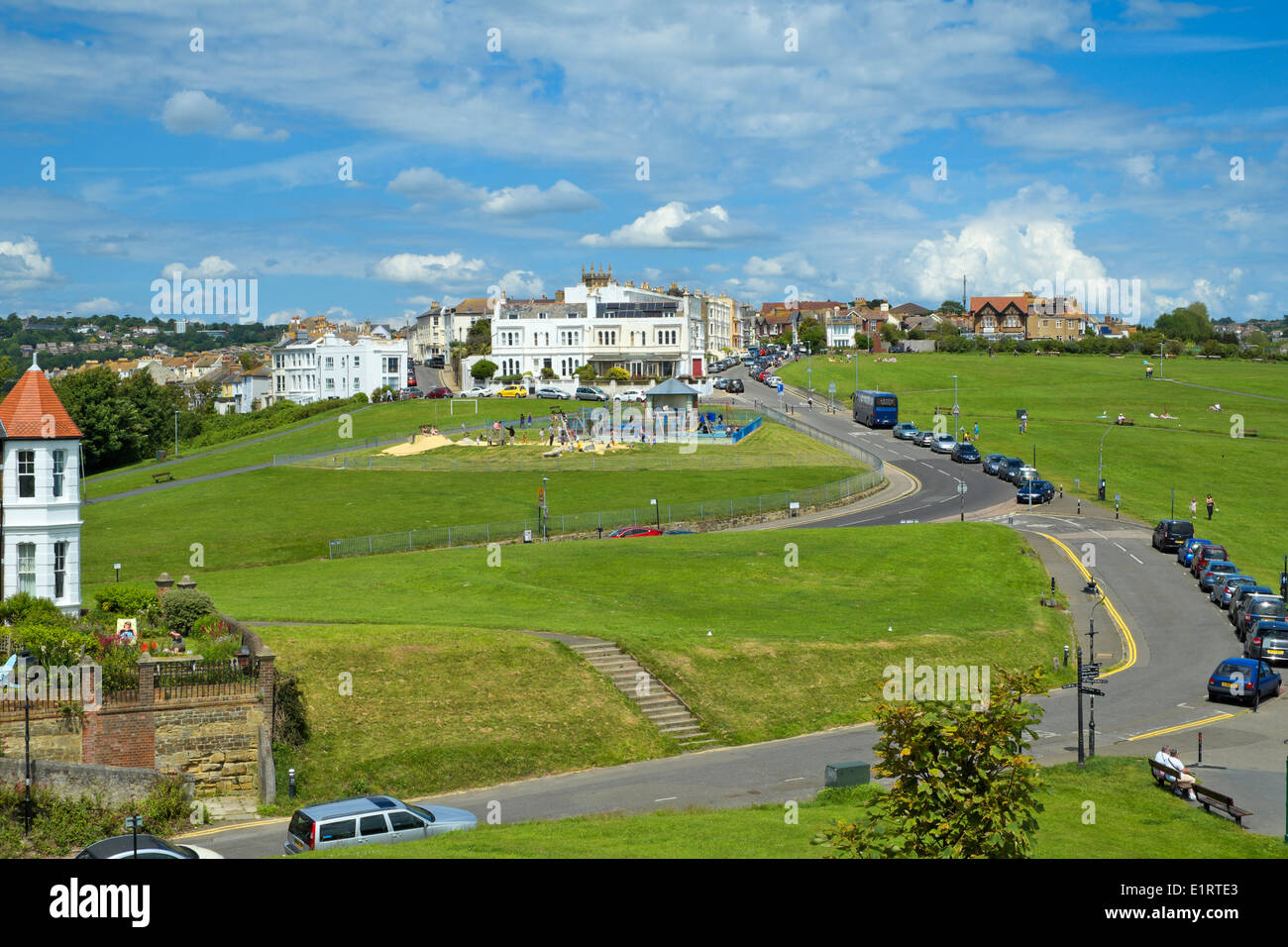 View inland on West Hill Hastings East Sussex England UK Gb - Stock Image